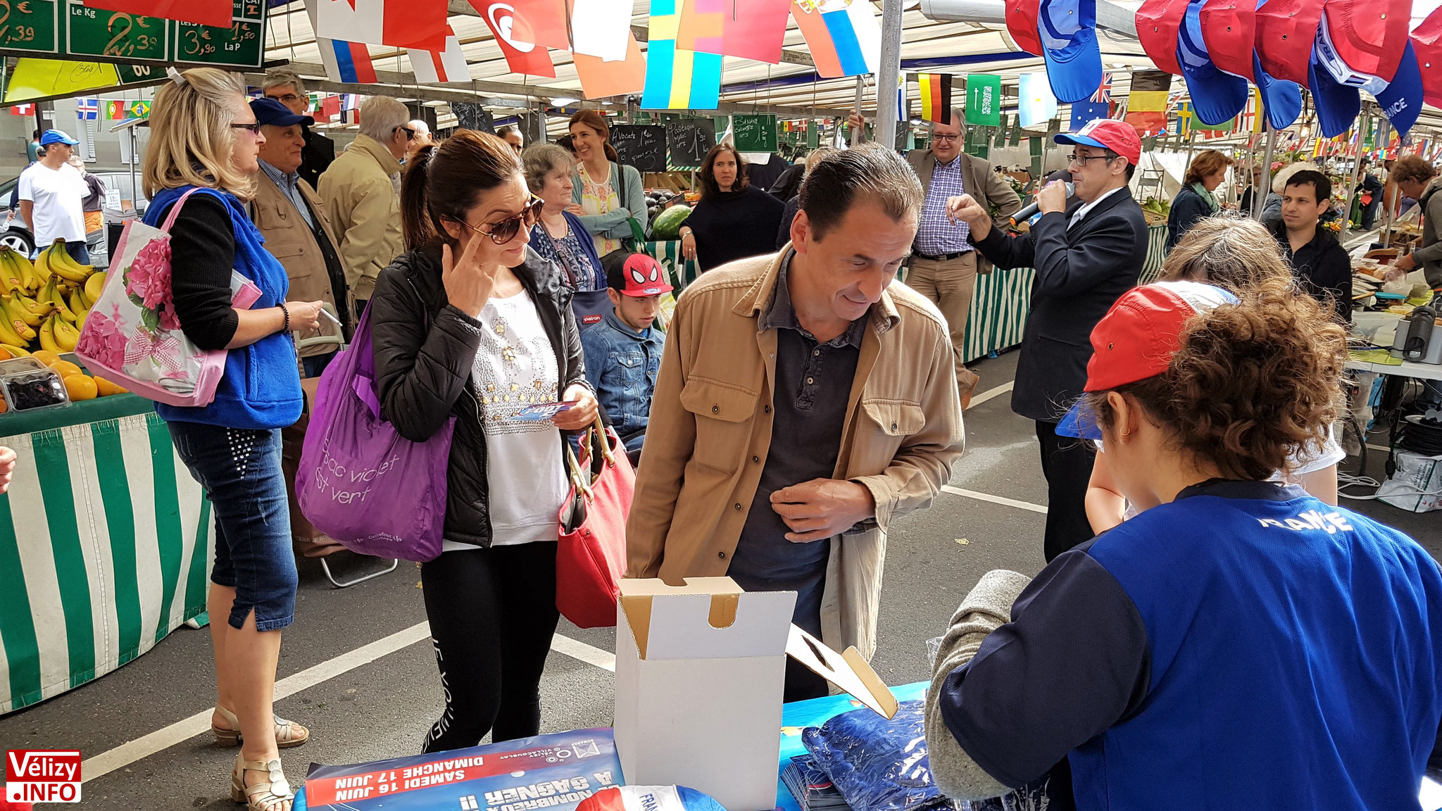 Marché du Mail à Vélizy-Villacoublay.