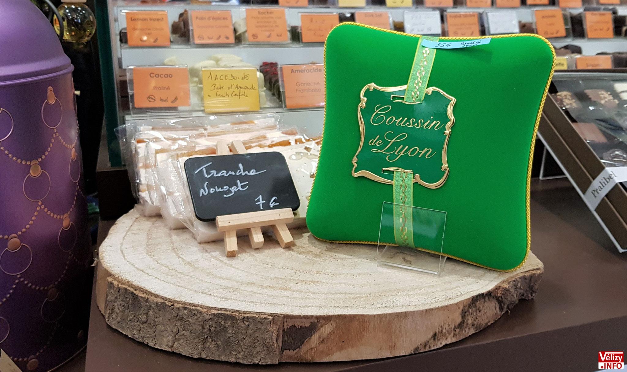 « Coussin de Lyon » - Boutique Choko'bel à Vélizy-Villacoublay.