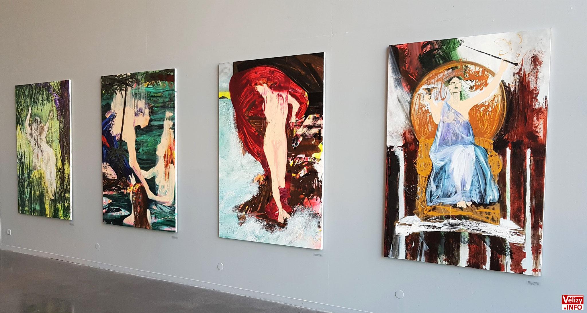 Exposition d'Éric Citerne au centre d'art contemporain de l'Onde à Vélizy-Villacoublay.