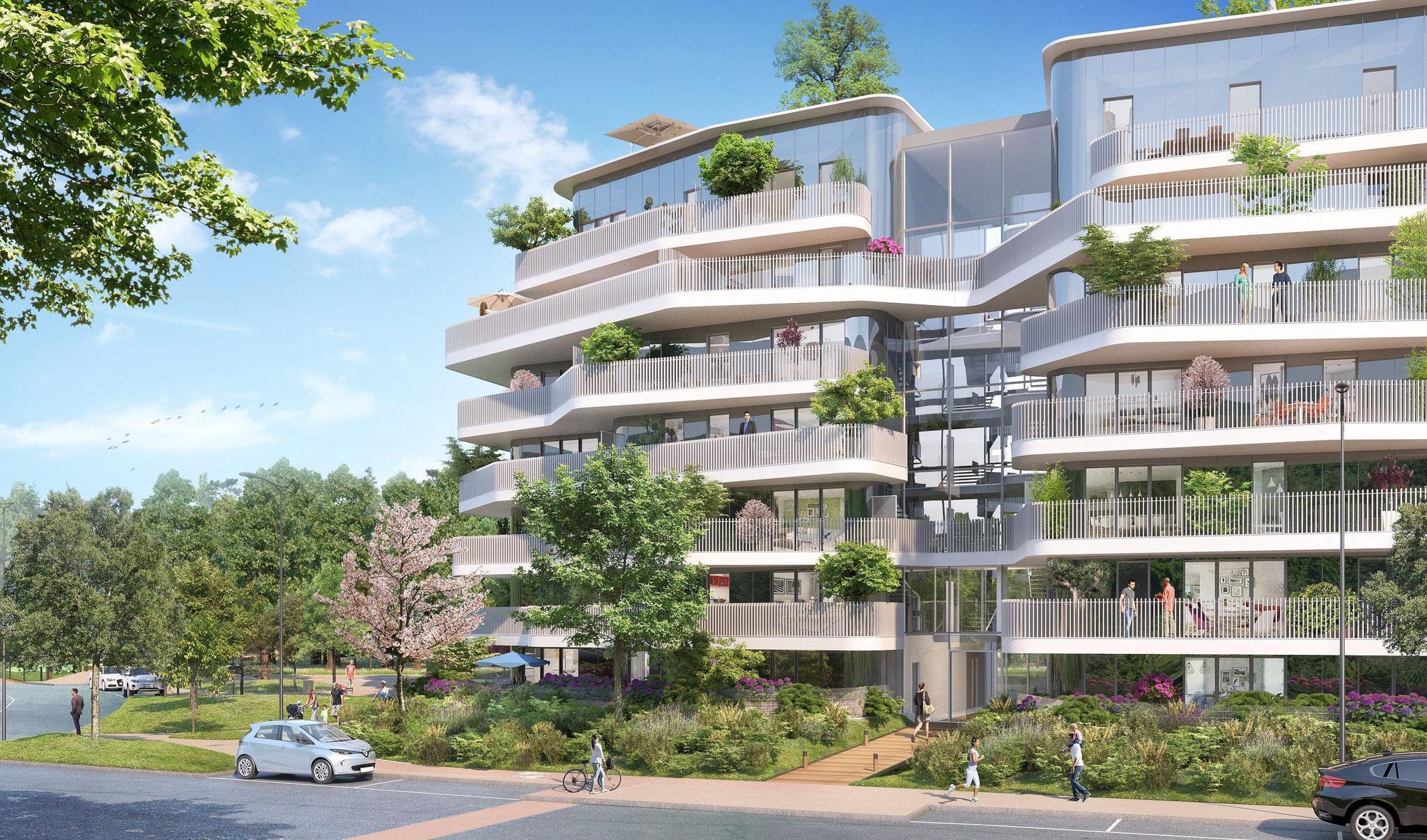 Résidence Canopée à Vélizy-Villacoublay - Care Promotion - H2 Promotion – Fragments Architecture