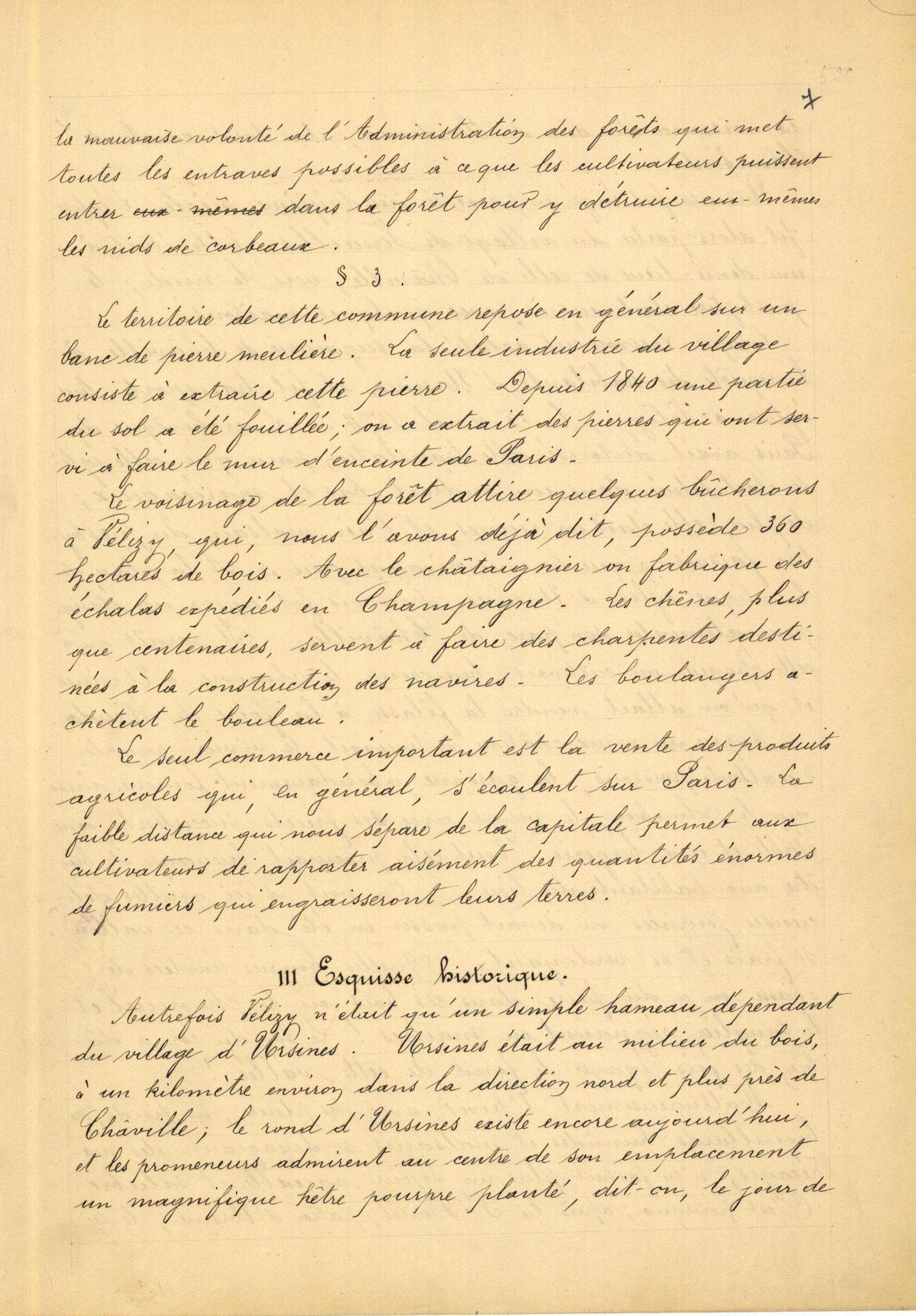 Page 7 - Monographie communale de l'instituteur de Vélizy, 1899