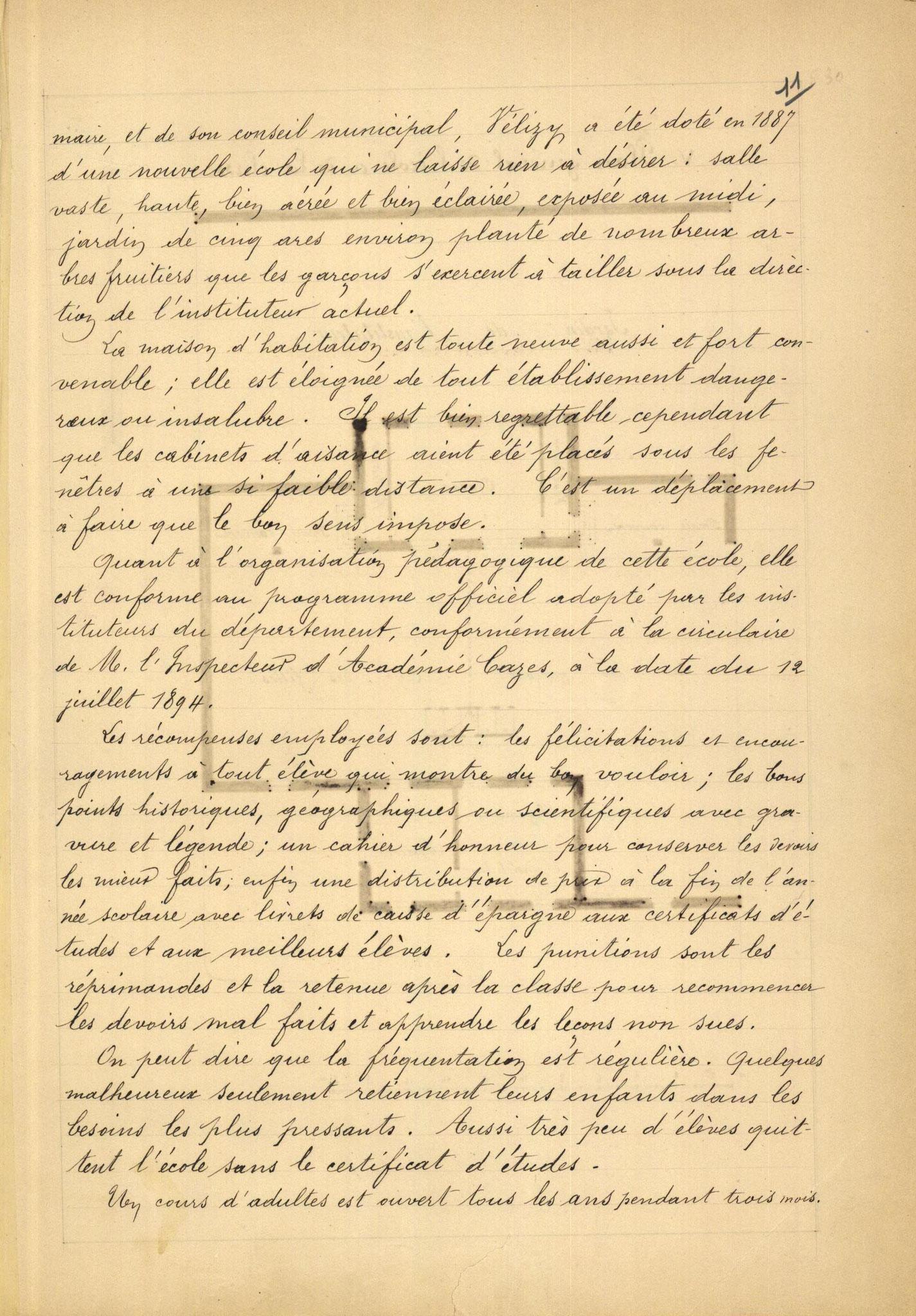 Page 11 - Monographie communale de l'instituteur de Vélizy, 1899