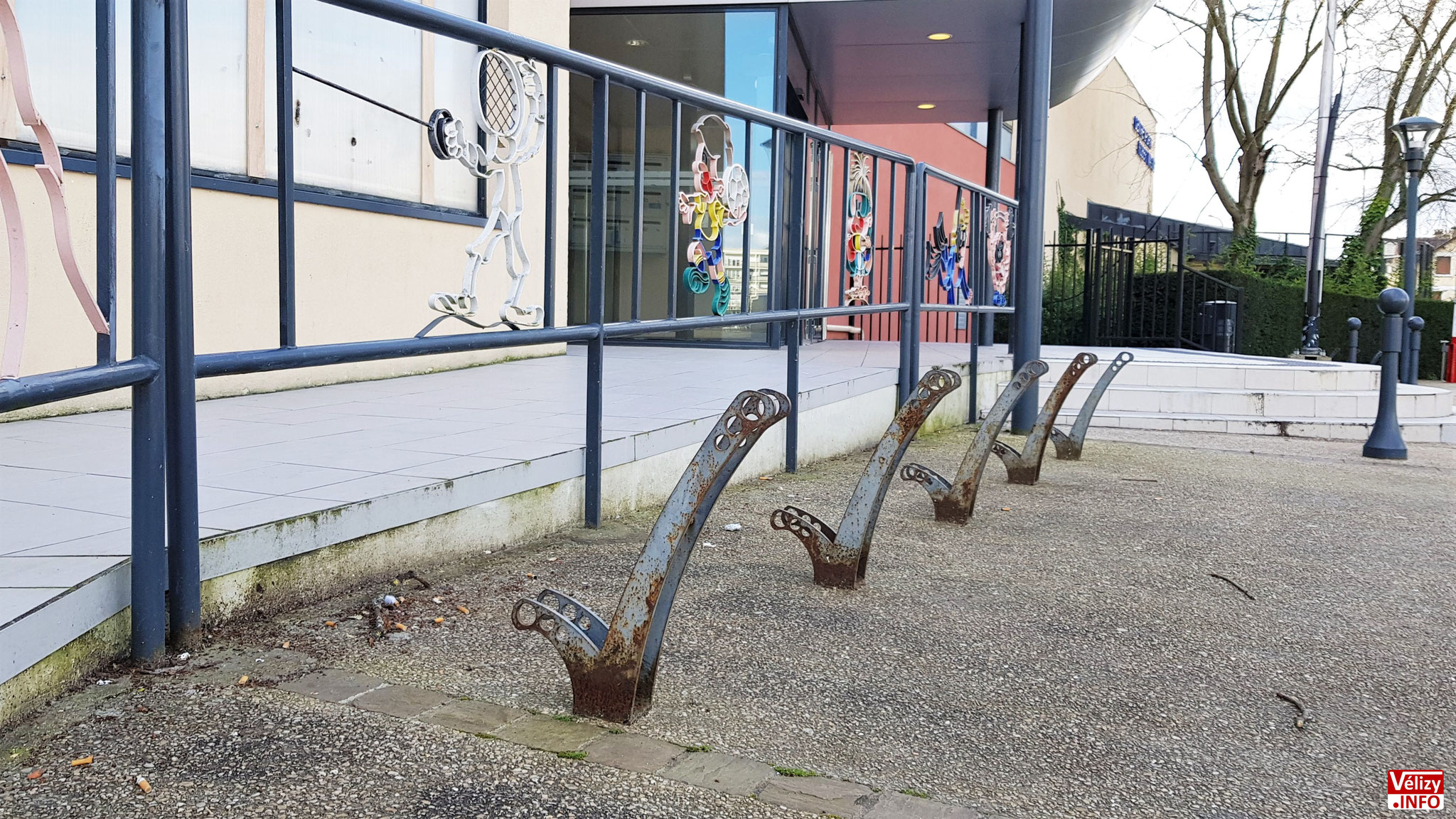 Arceaux pour stationnement vélos (2020).