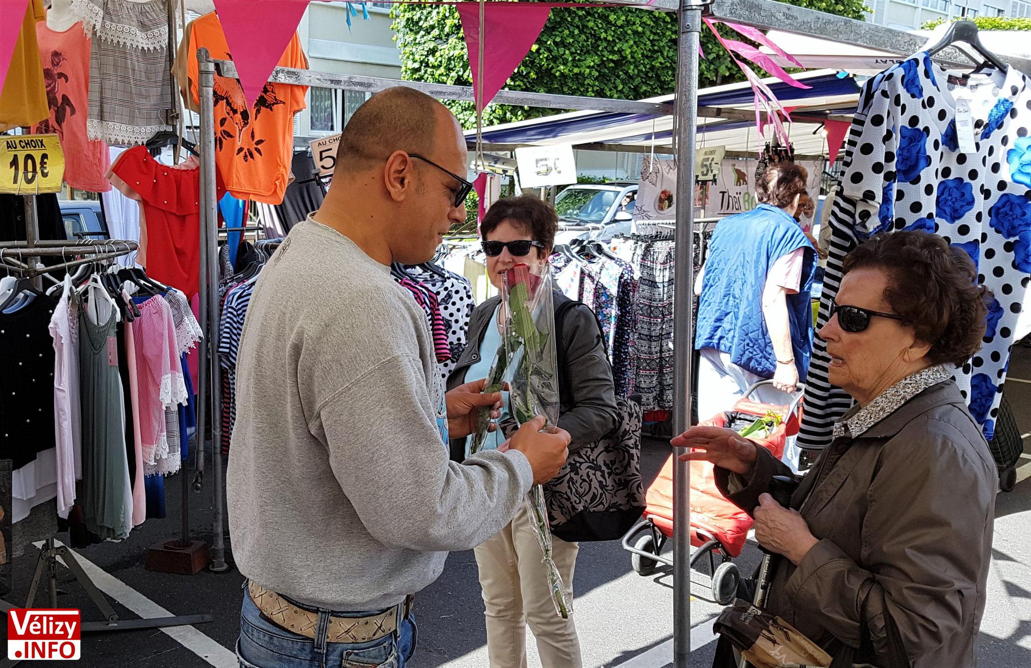 Fête des Mères au marché du Mail de Vélizy, le samedi 26 mai 2018.