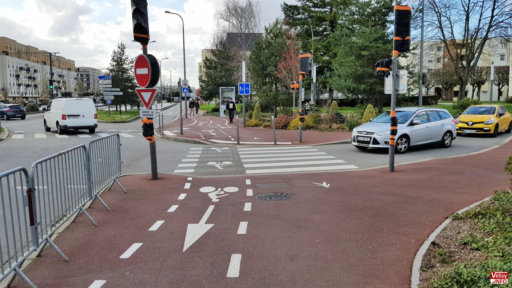 Pistes cyclables à Vélizy-Villacoublay (2020).
