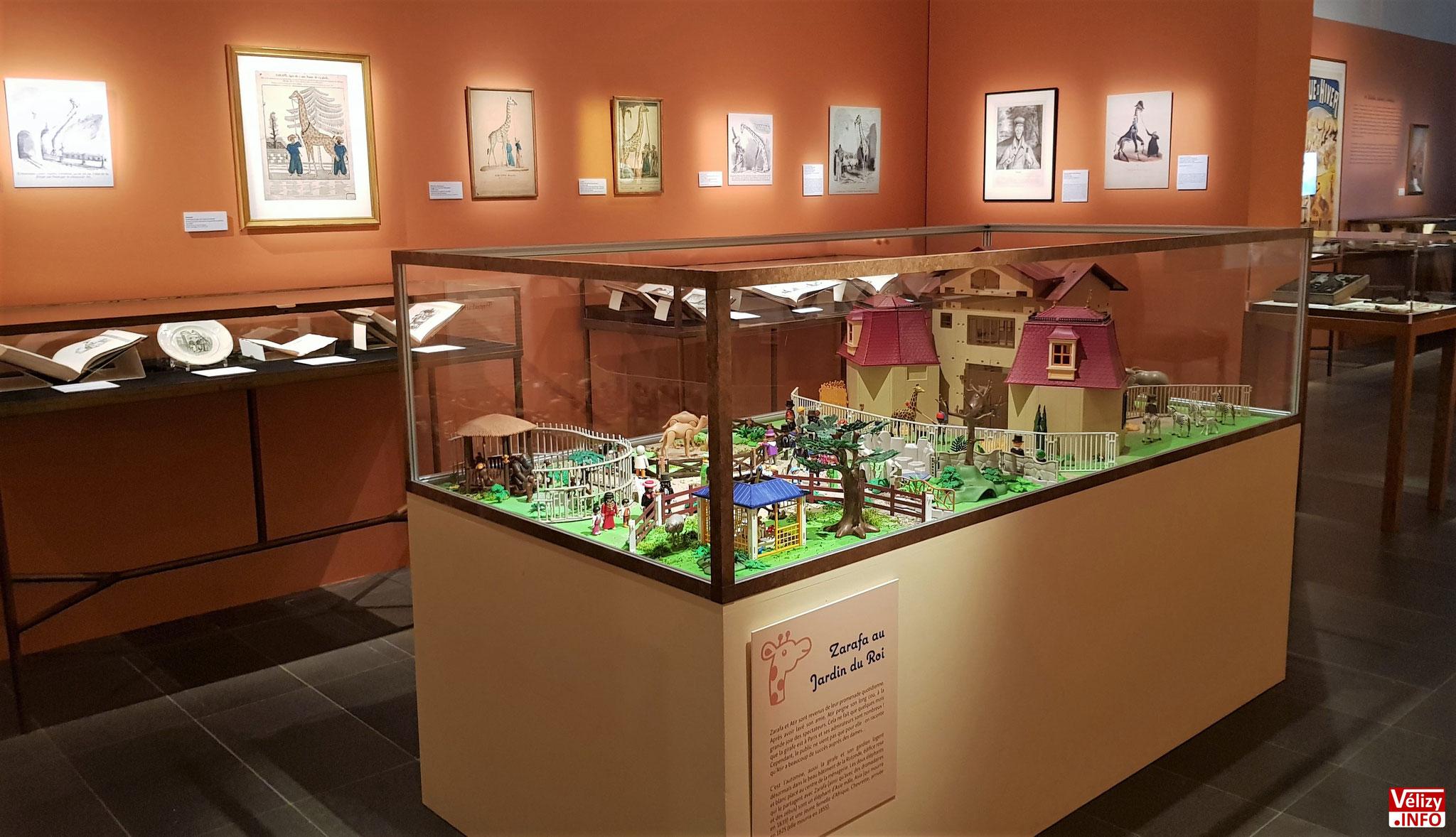 Zarafa au jardin du roi. Diorama de Jean-Philippe Broussin. Play-Original