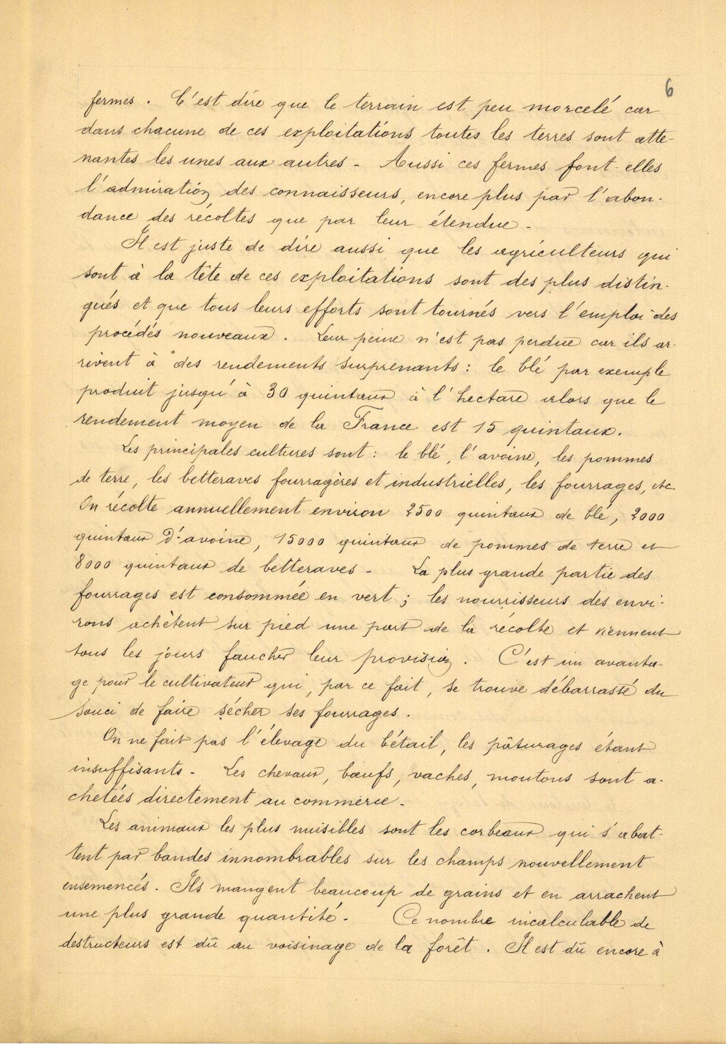 Page 6 - Monographie communale de l'instituteur de Vélizy, 1899