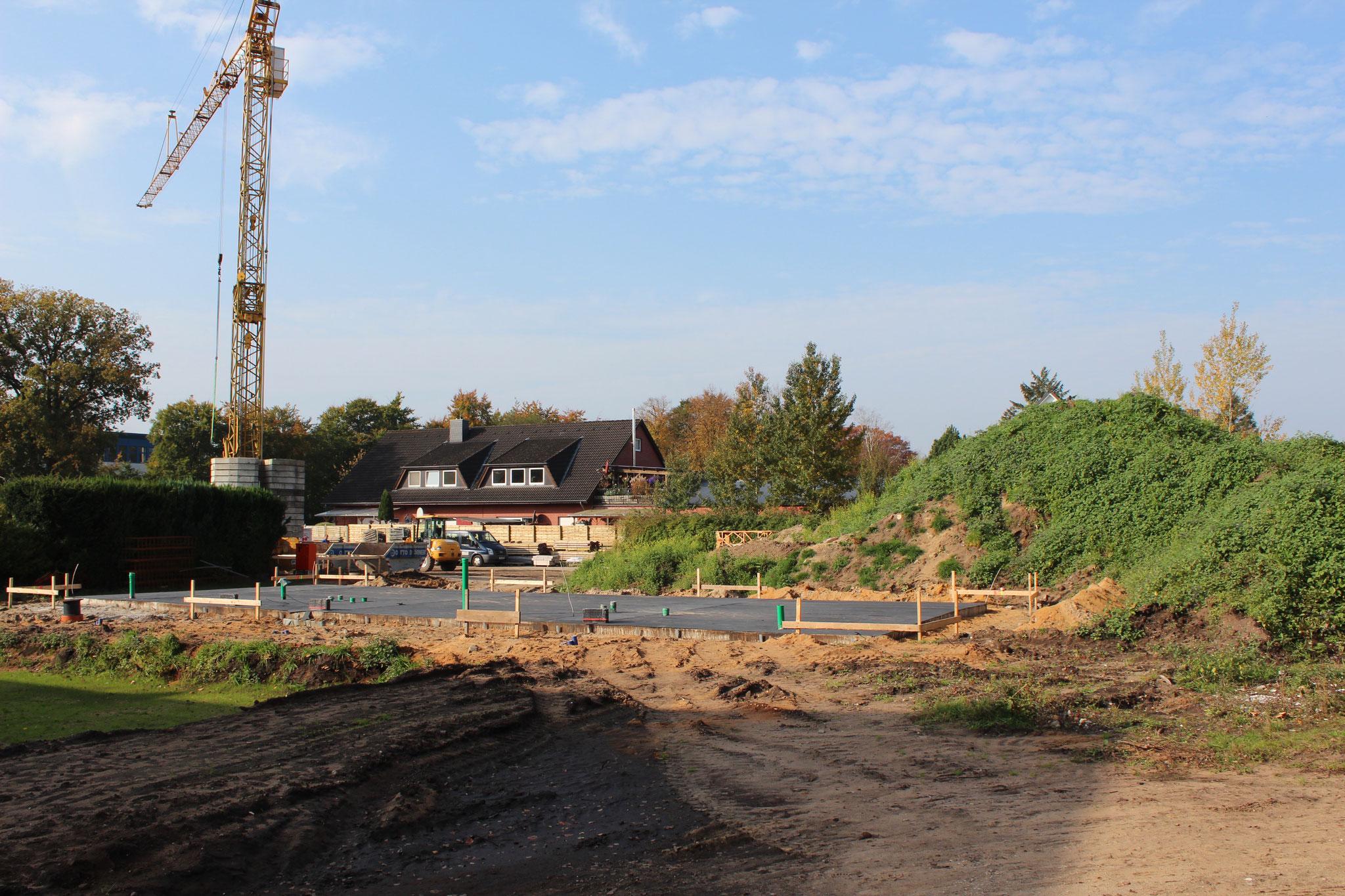 die aktuelle Baustelle im Oktober 2017