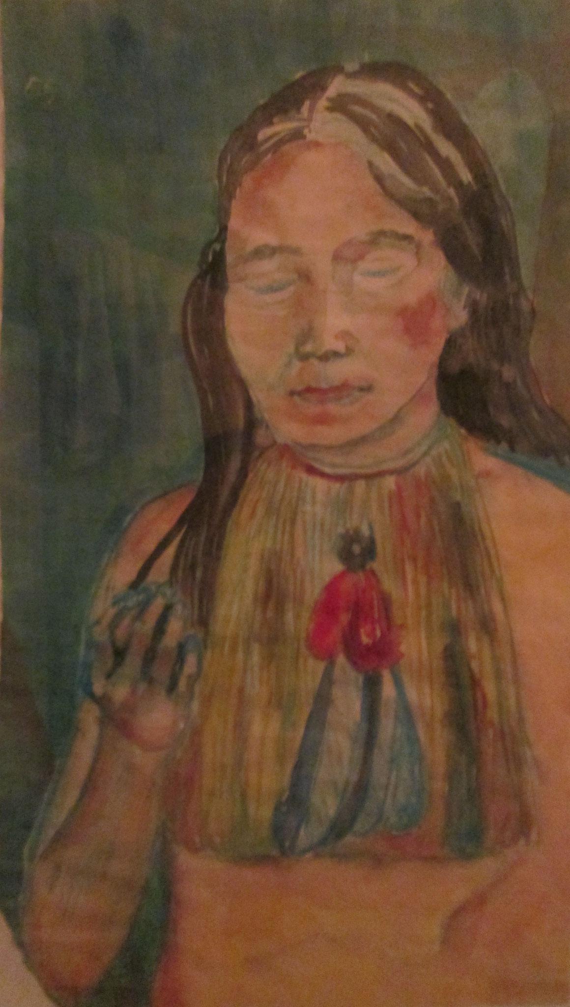 Indianer-Frau