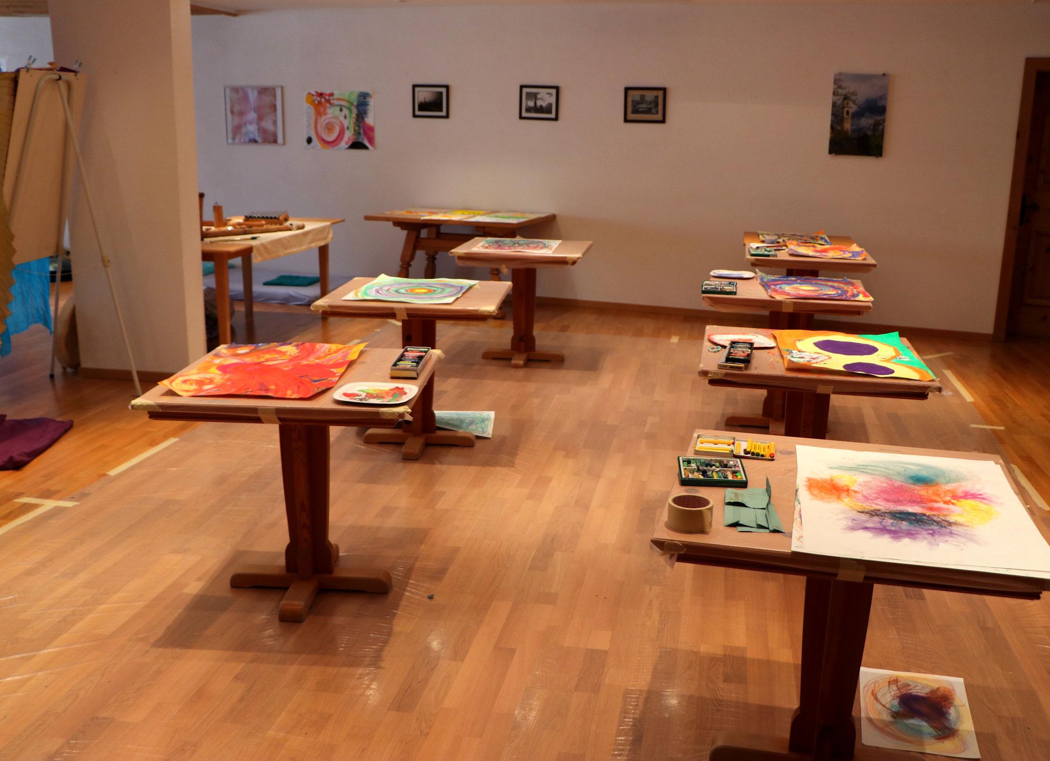 Kreativ-Bereich des Seminarraums