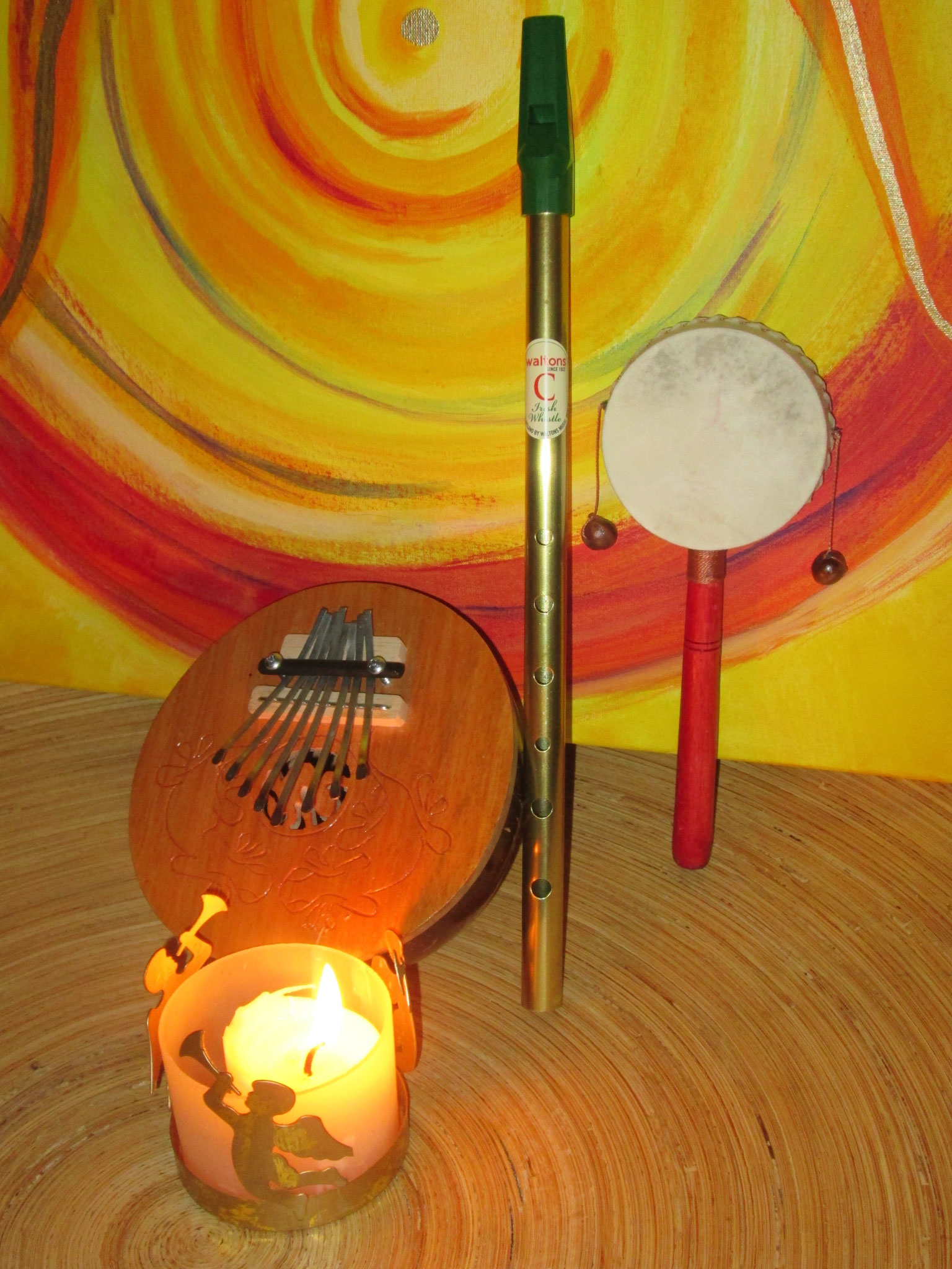 Kalimba, irische Flöte