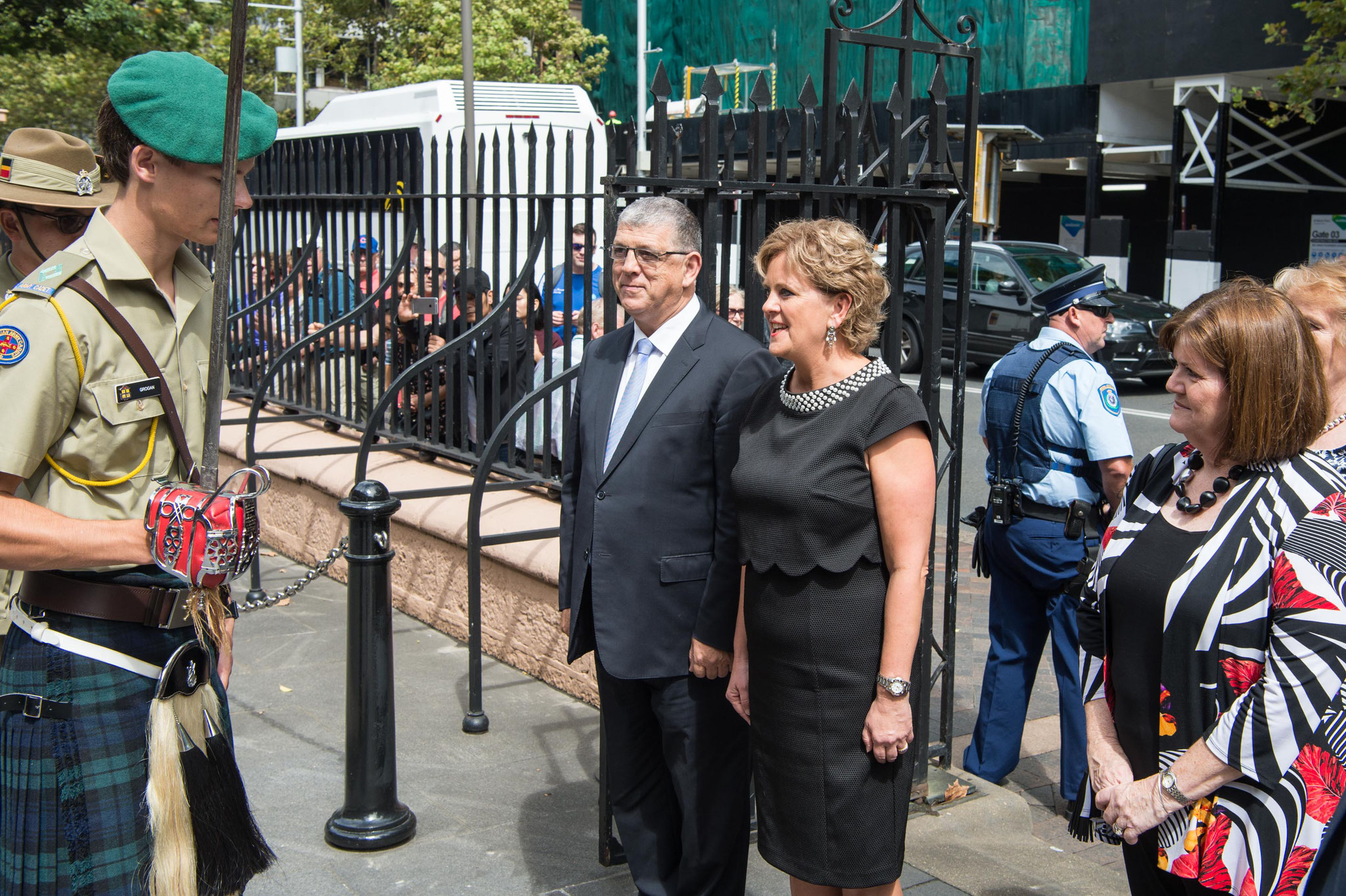 Vice Patron Hon John Ajaka and Her Excellency arrive at NSW Parliamnet House