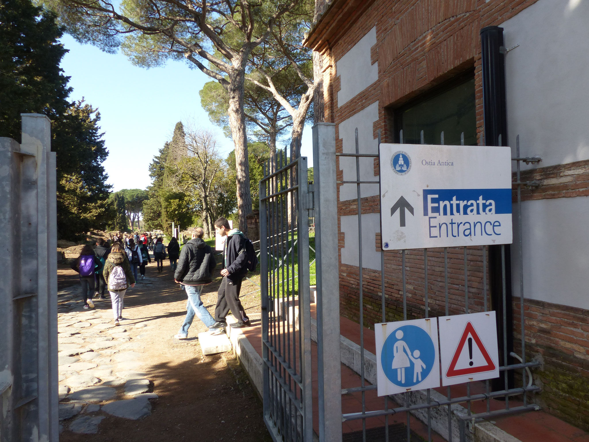 Eingang Ostia Antica