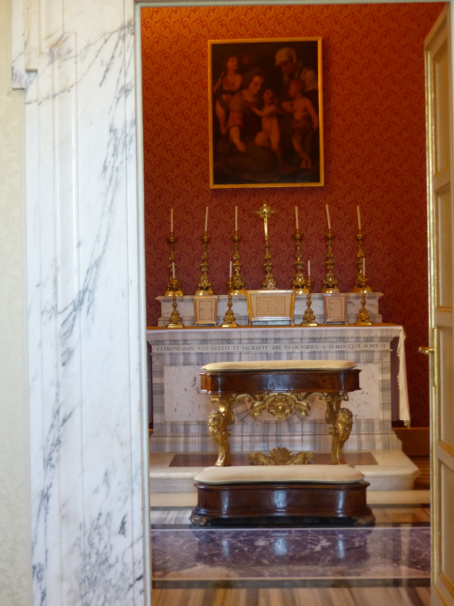Private Kapelle Papst