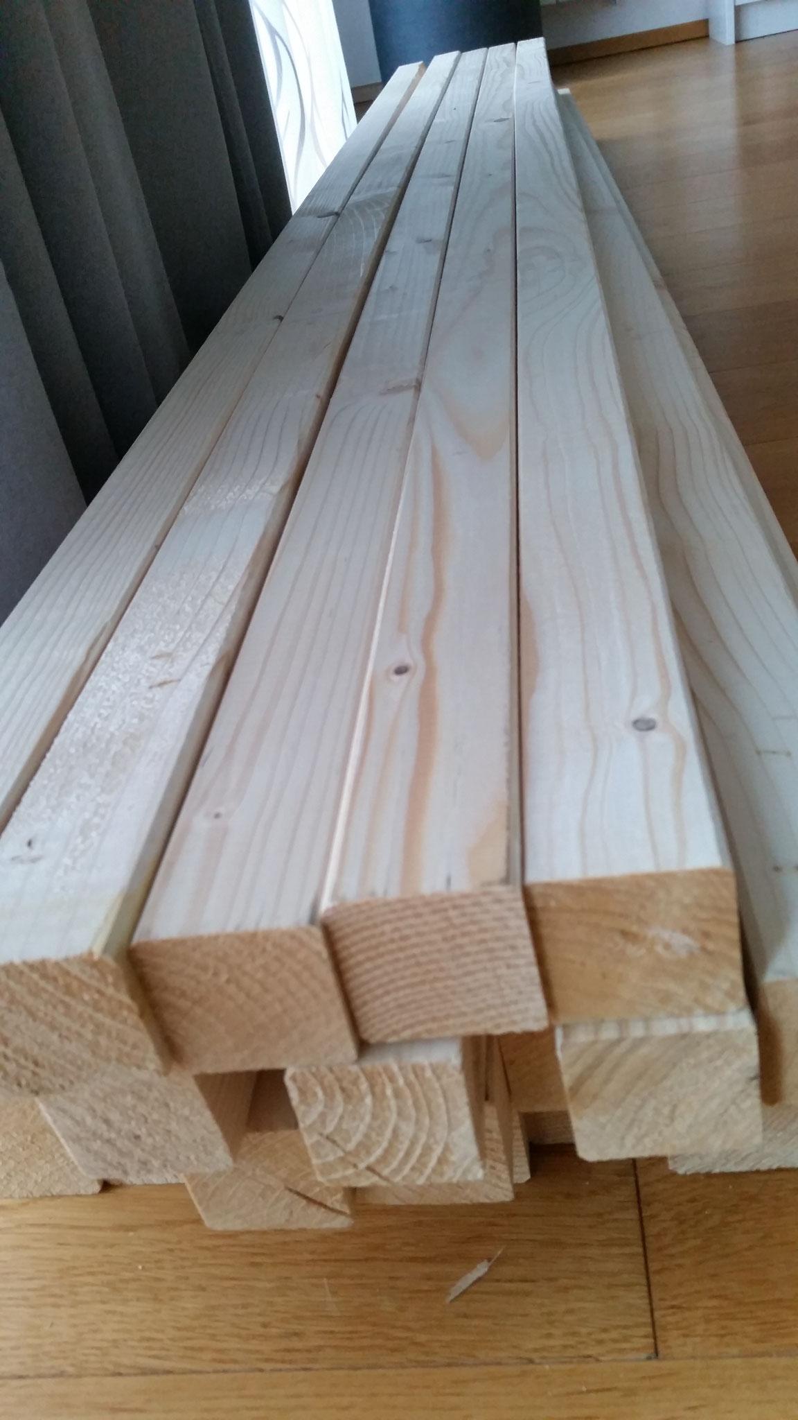 noch mehr Holzlatten ...