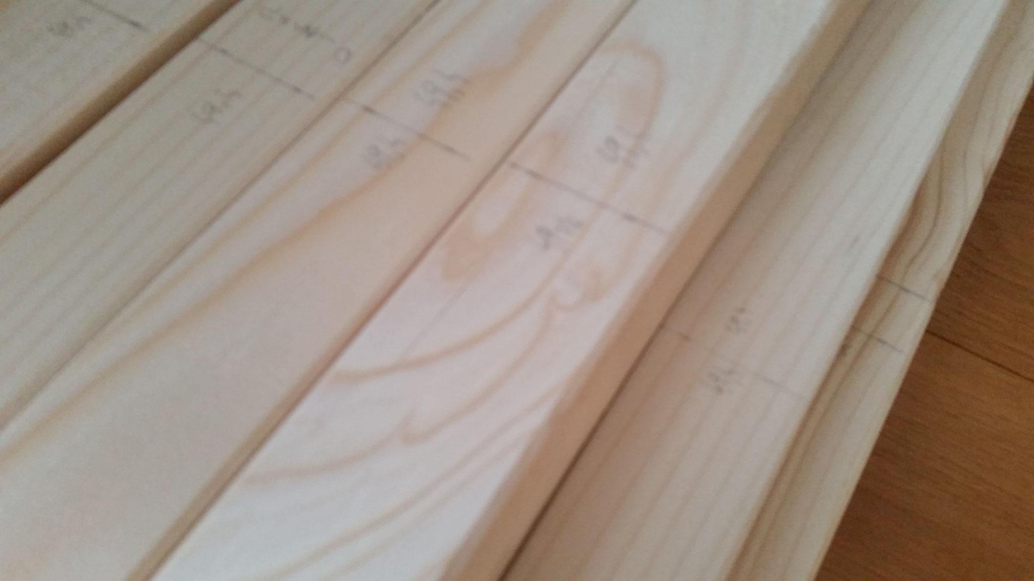 Messen und Anzeichnen der Holzlatten