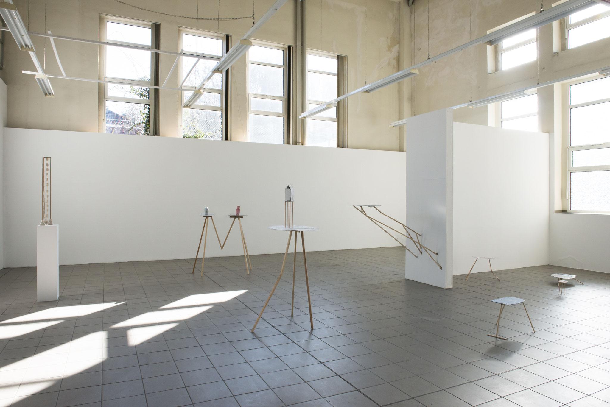 Ausstellungsansicht Frau und Herr Blume 2018 Foto: Gabi Rottes