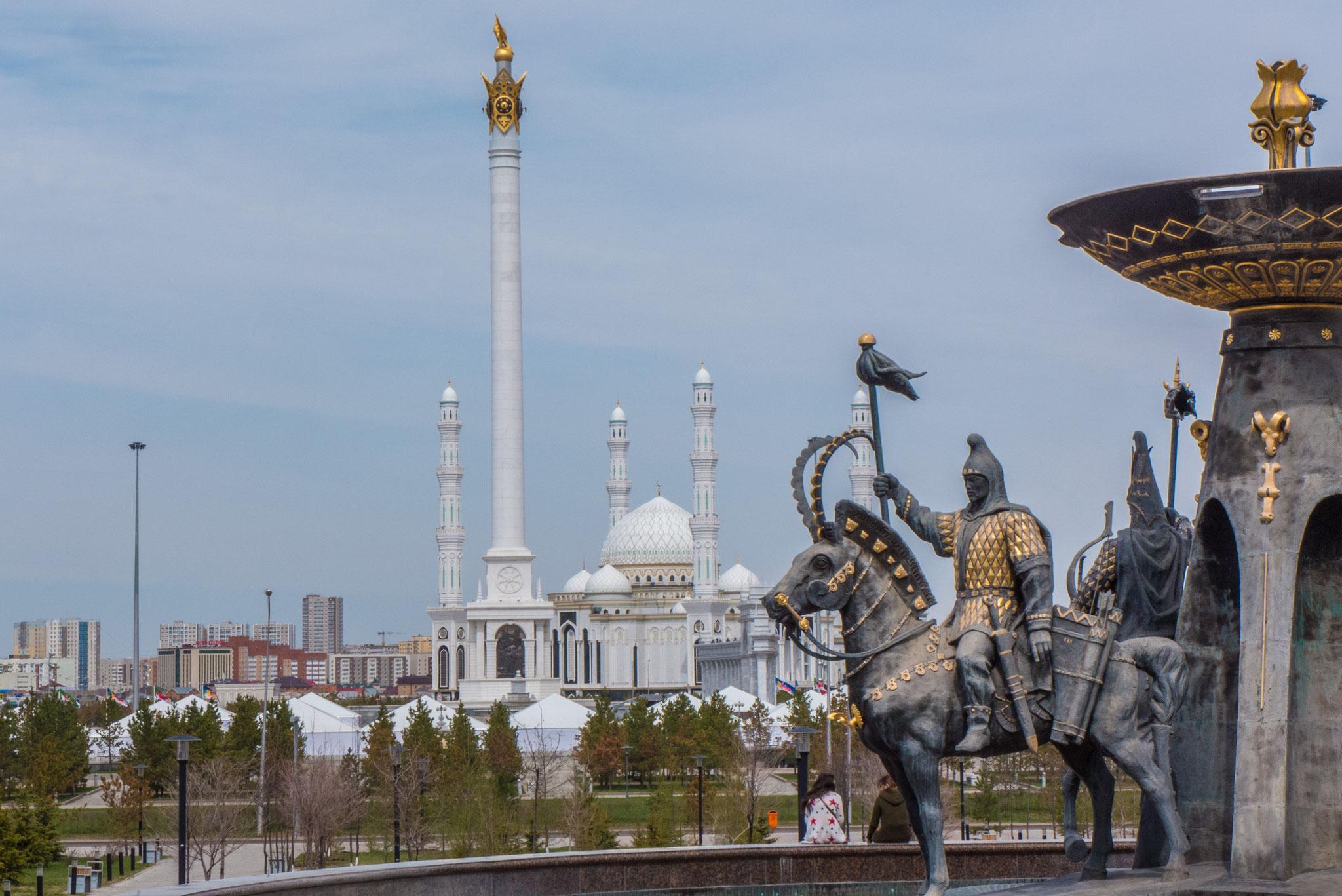 Blick vom Museum auf die Mosche
