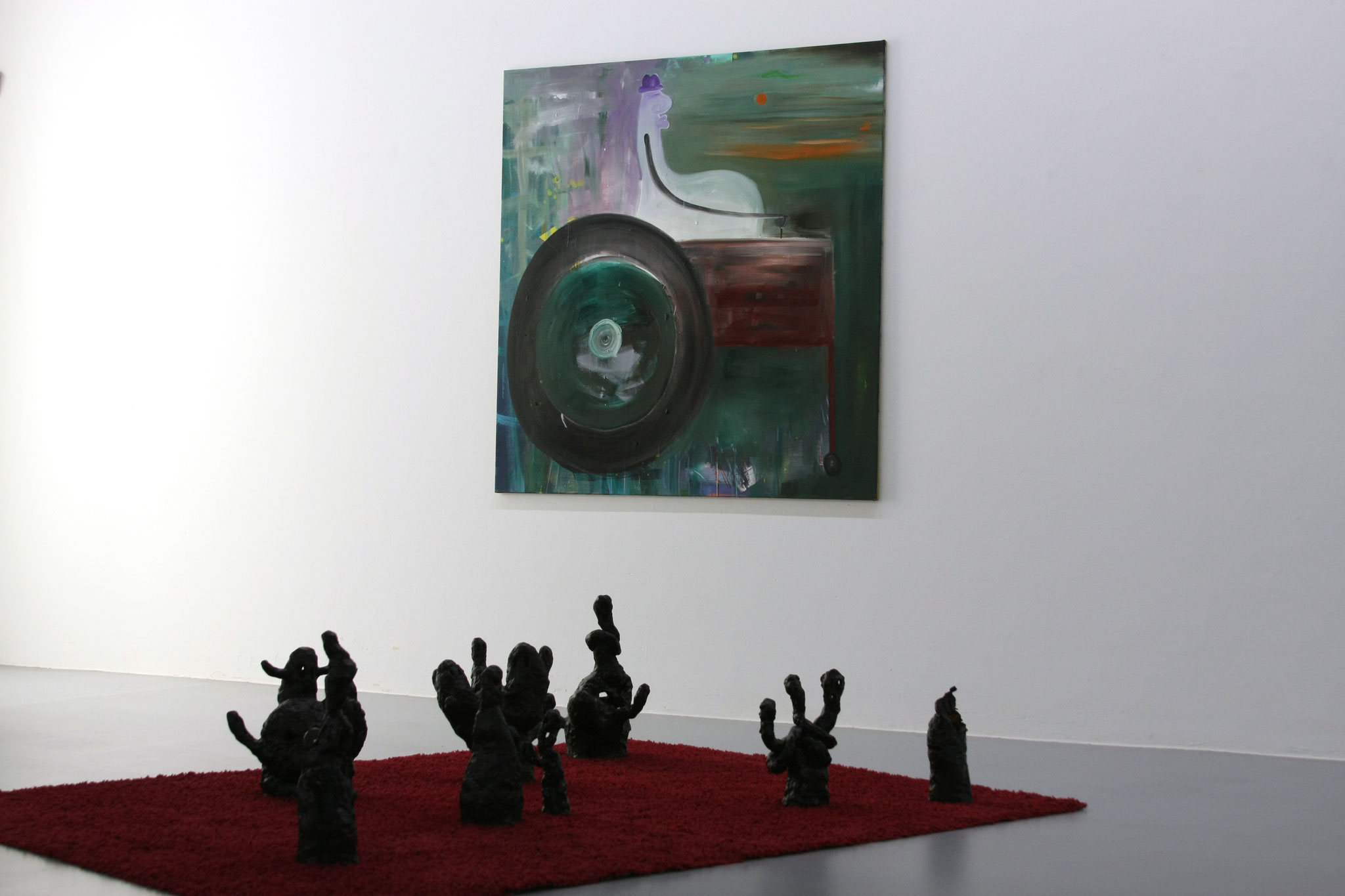 """Ausstellungsansicht mit """"stanley road"""", 140 x 120 cm🔴"""