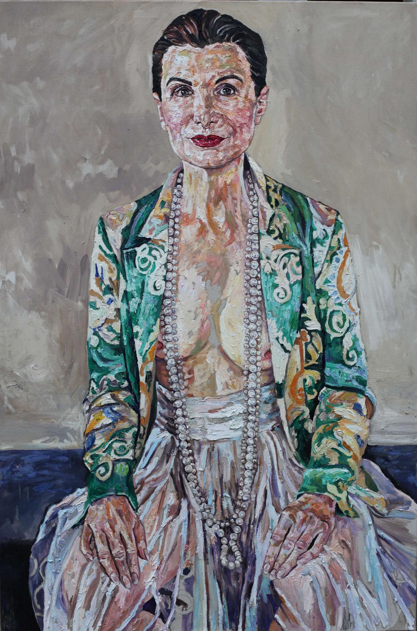 "Helga Druml ""Irene Andessner"" Öl auf Leinwand, 150 x 100 cm, 2017"