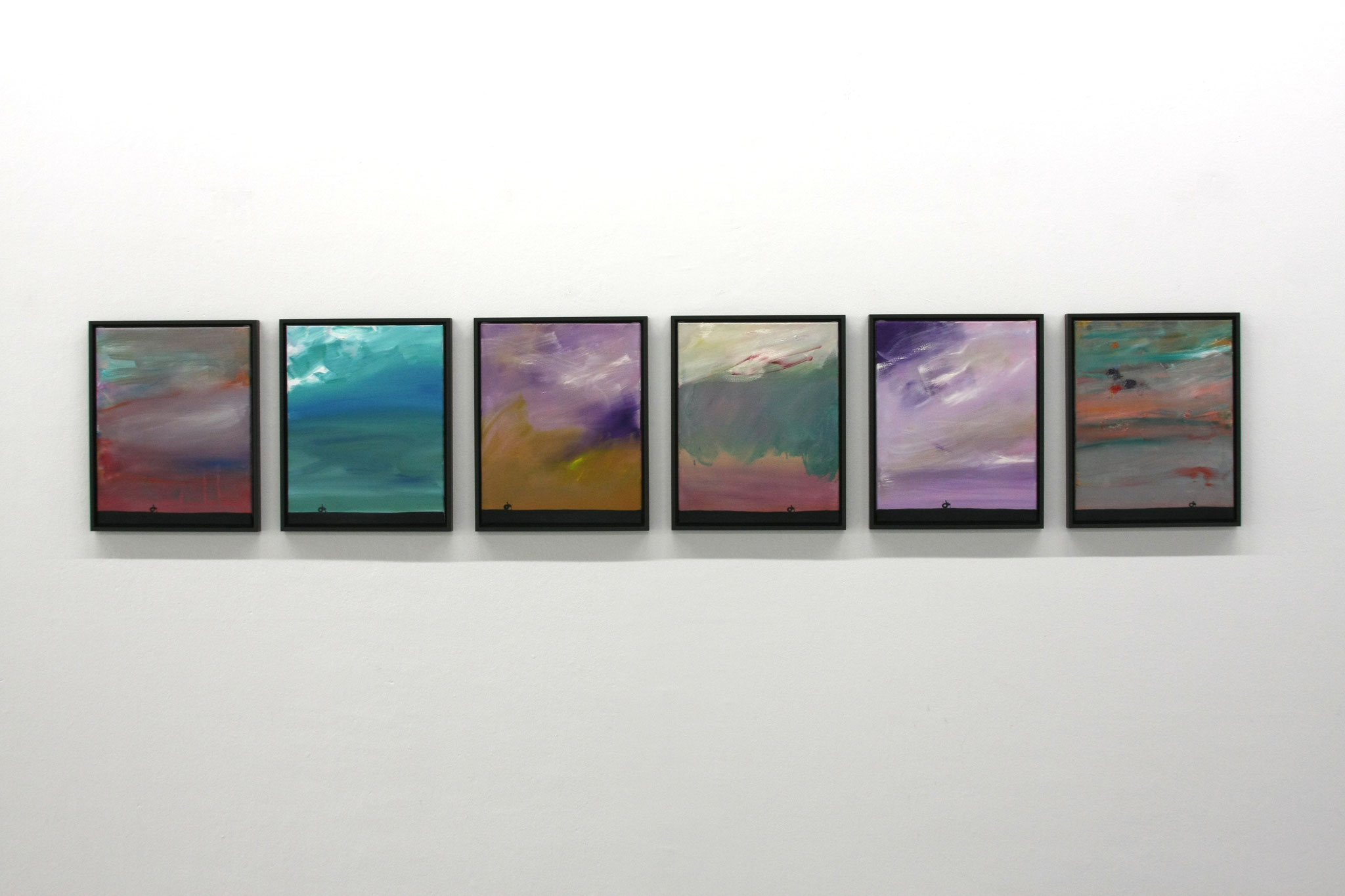 "Ronald Kodritsch, Serie 6-teilig ""stanley road"", Öl auf Leinwand, 40 x 50 cm, 2019🔴"