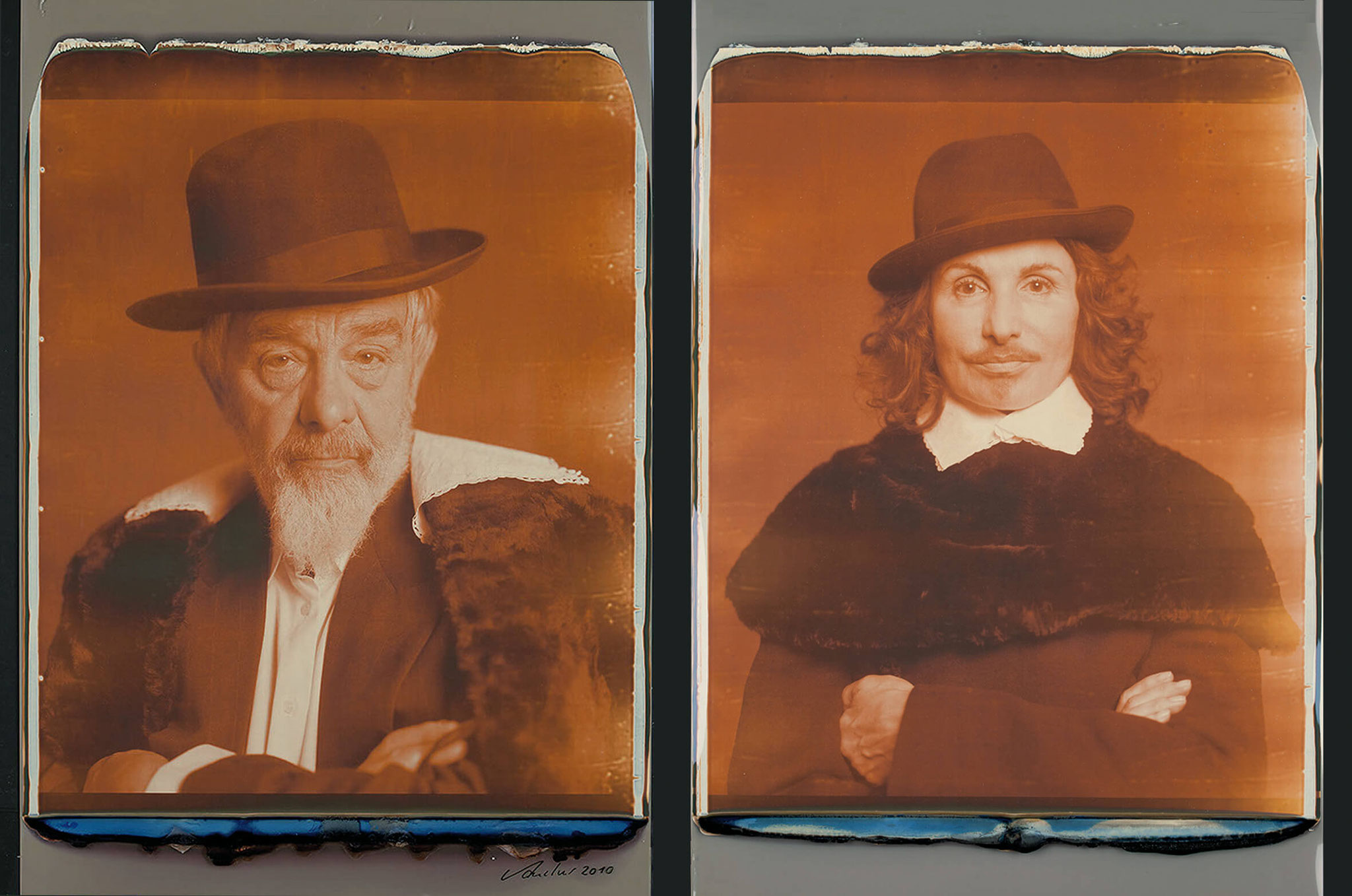 "Arnulf Rainer/ Irene Andessner ""Art Protectors - Portraits nach Frans Hals"" Impossible, je 24 x 20 Inch, (61 x 51 cm), 2010"
