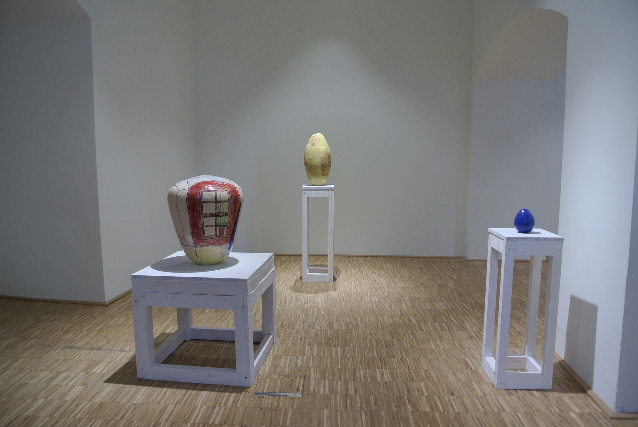 Ausstellungsansicht, Vermessung und Gewicht