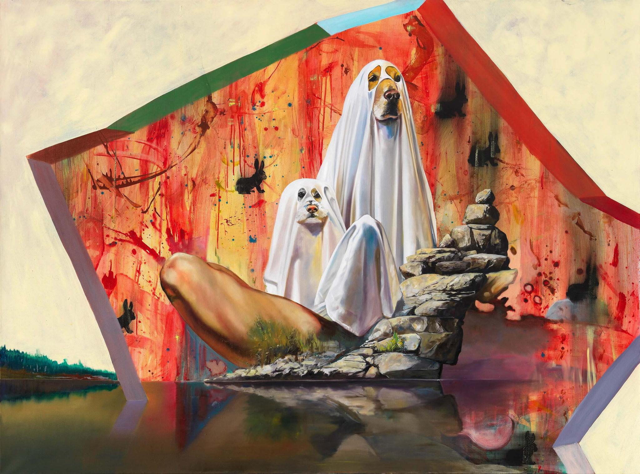 Böhme / Maderthaner / Kodritsch, Doglooksklan, Mischtechnik auf Leinwand, 170 x 230 cm, 2016