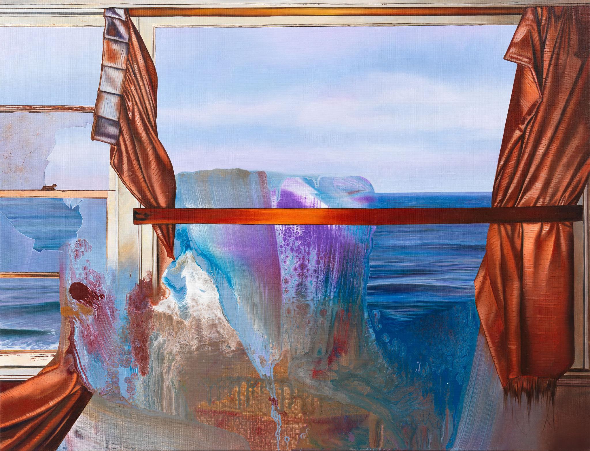 """Inside_7"""", 130 x 170 cm, 2018, Öl und Mischtechnnik auf Leinen"""