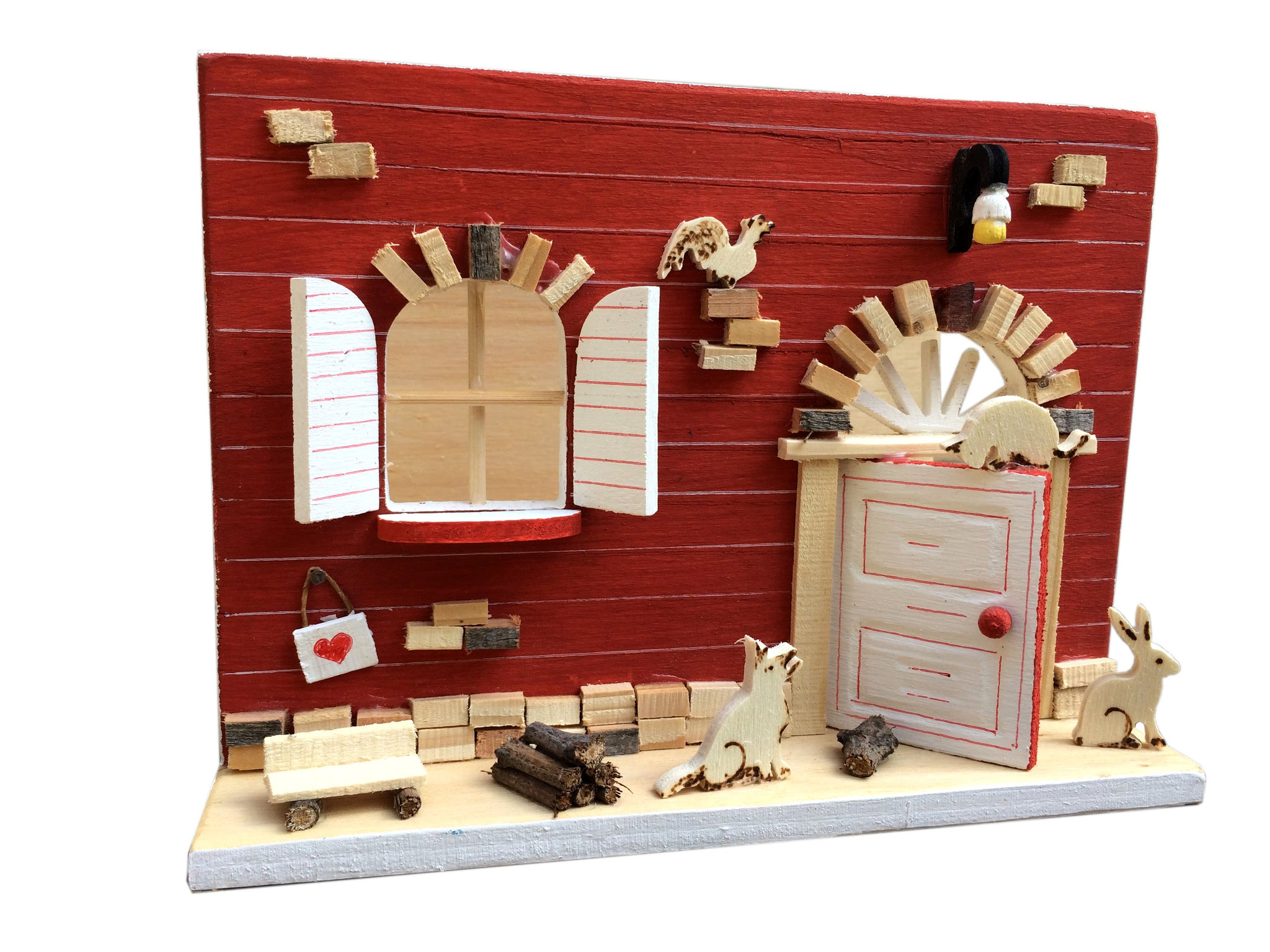 Porta riviste in legno