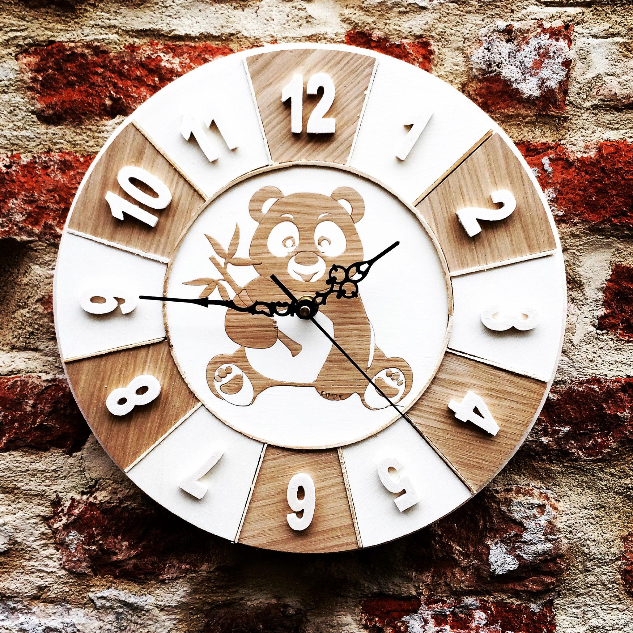 Orologio cameretta con panda