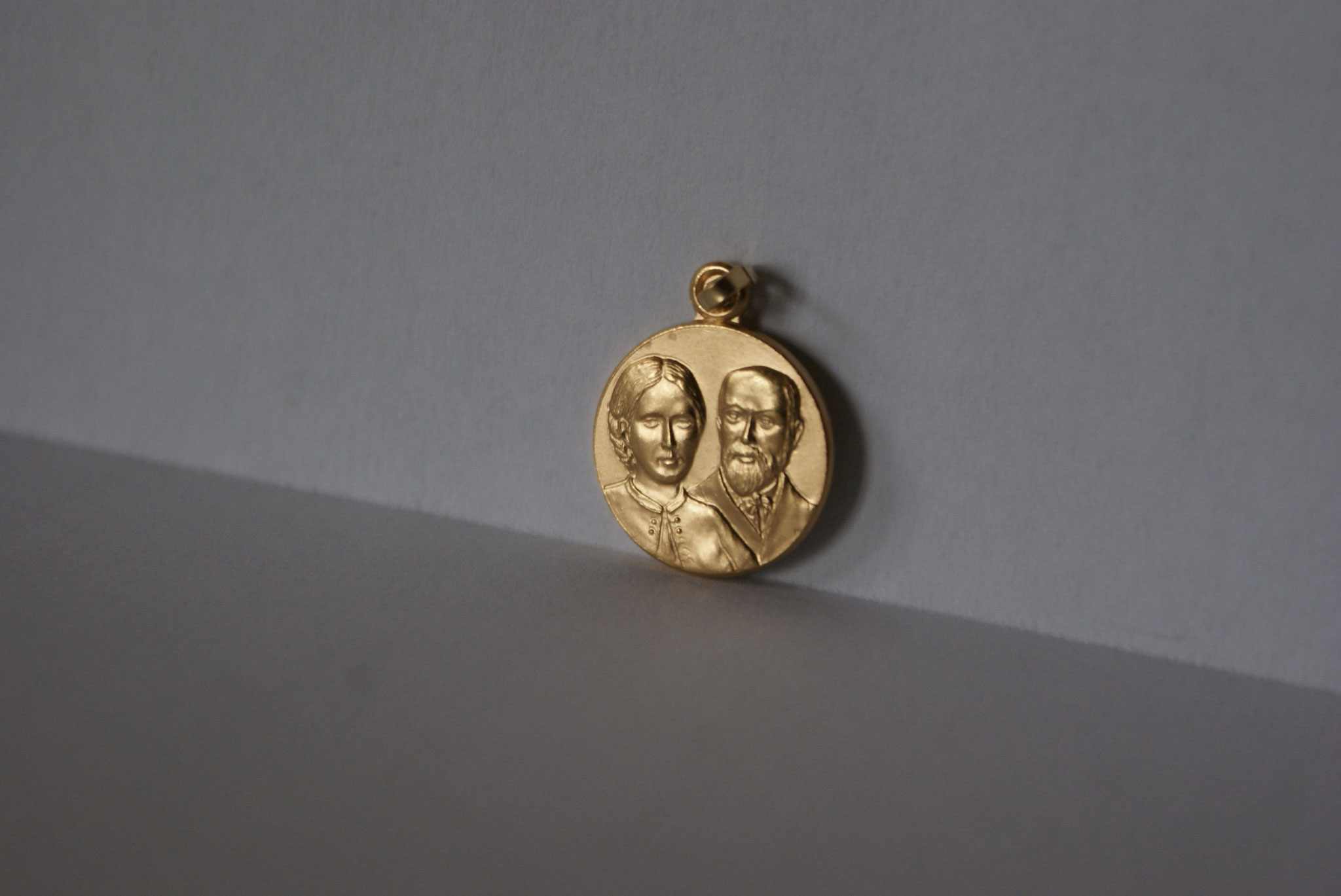 Médaille métal doré, Louis et Zélie Martin