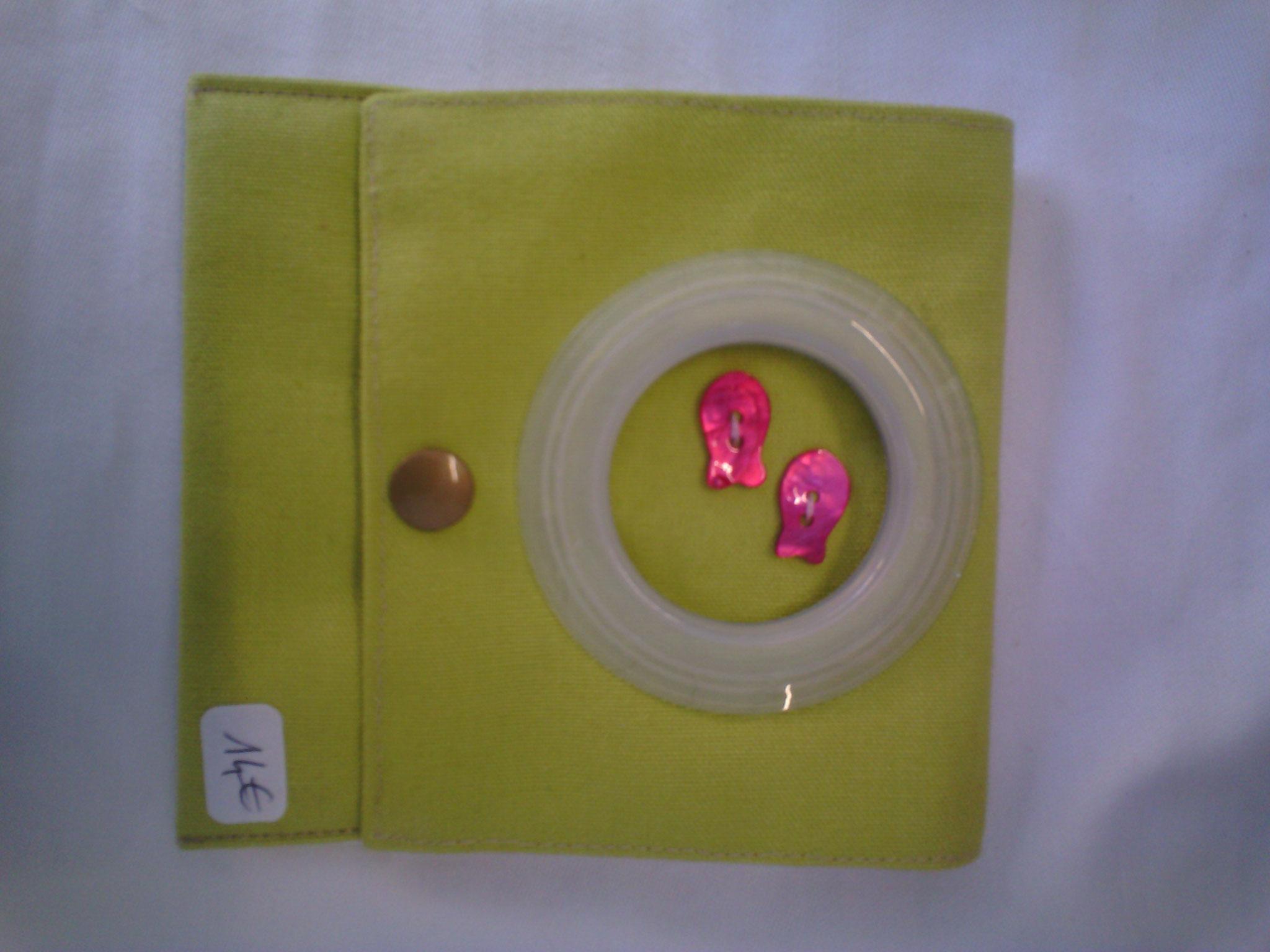 Pochette chargeur portable, couleur anis, tissu épais