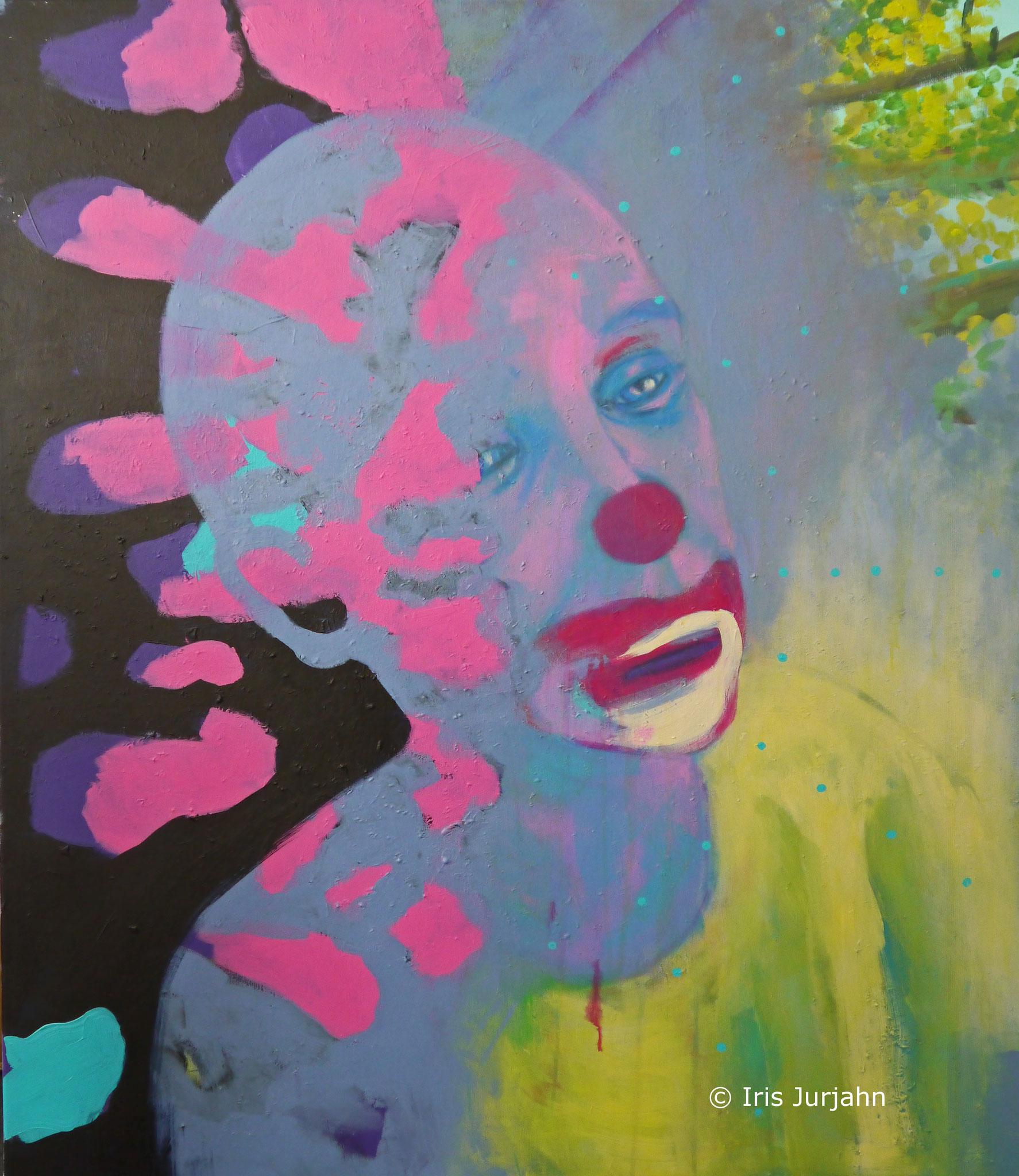 Clown, acrylic on canvas, 120 x 100 cm, 2017