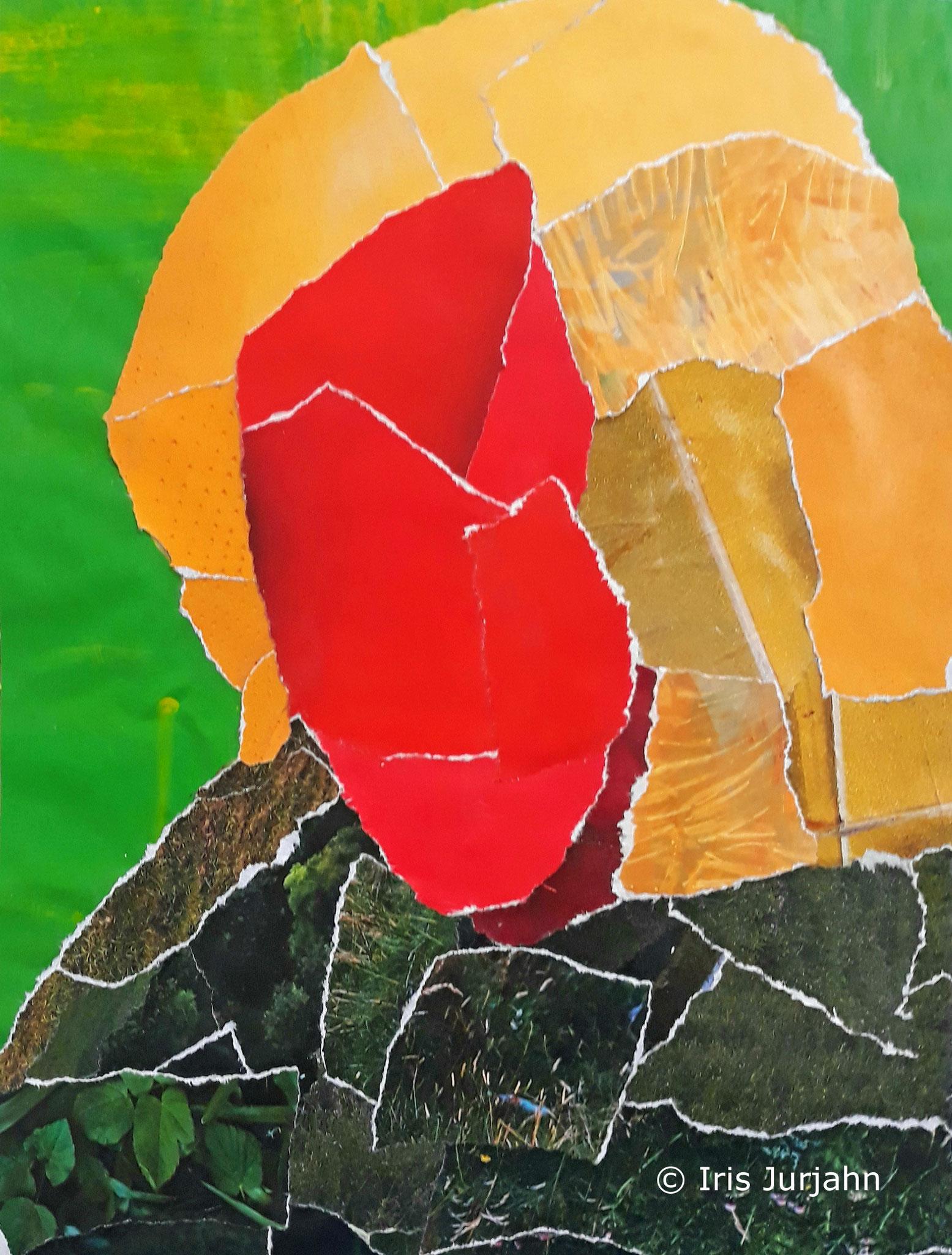People Thinker III, Papiercollage, 26 x 32 cm  (inkl. Objektrahmen), 2019