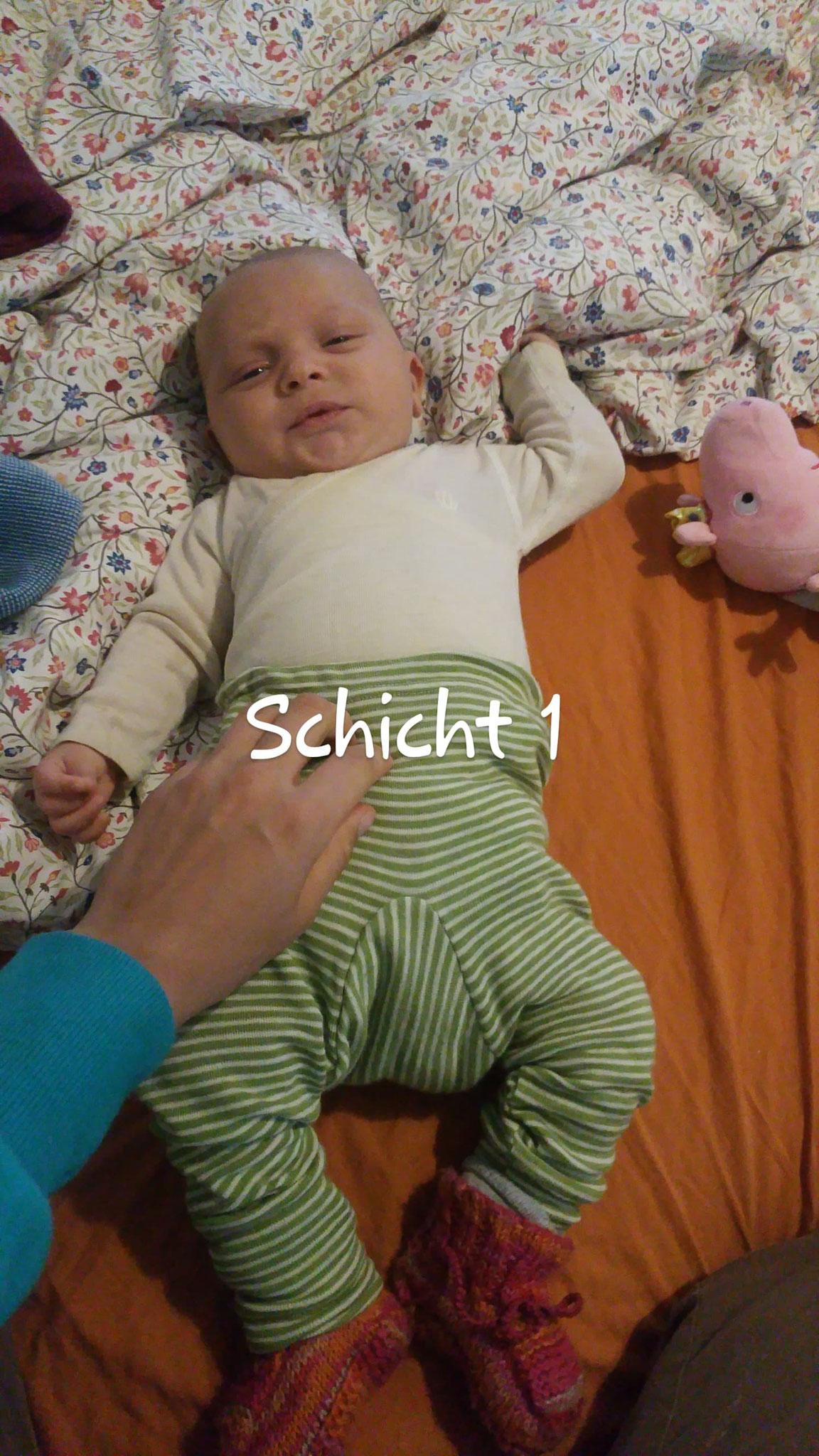 Unterste Bekleidungs-Schicht Wolle-Seide