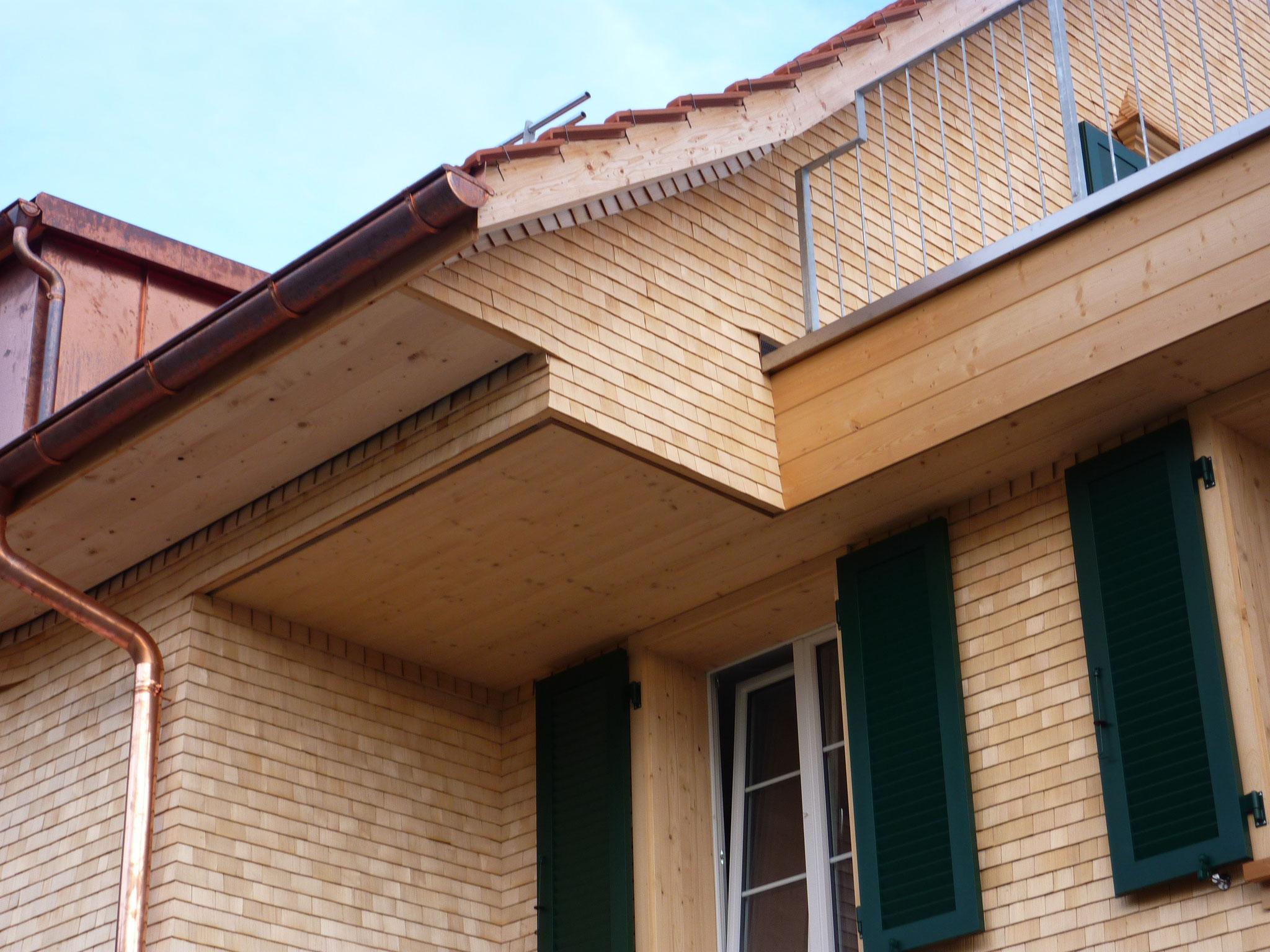 Detailansicht Schindelfassade