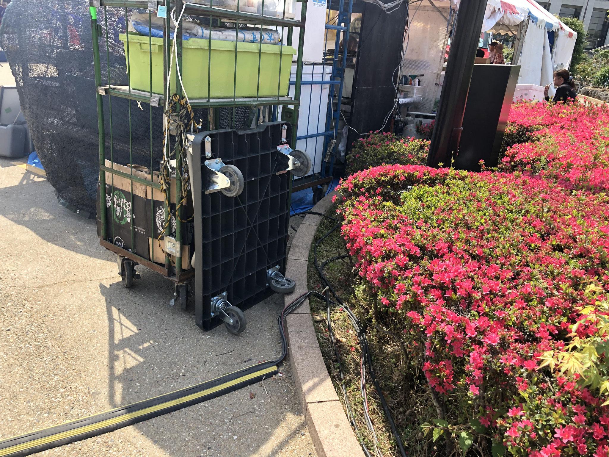 富士市 イベント電気工事 配線工事 養生 ケーブルプロテクタ