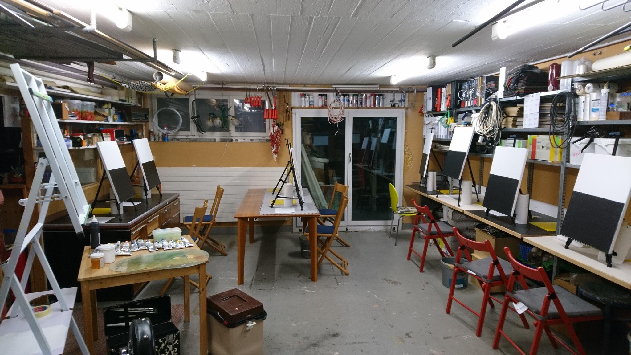 Die Werkstatt ist bereit für den ersten Kurs im 2018 - 20.01.2018