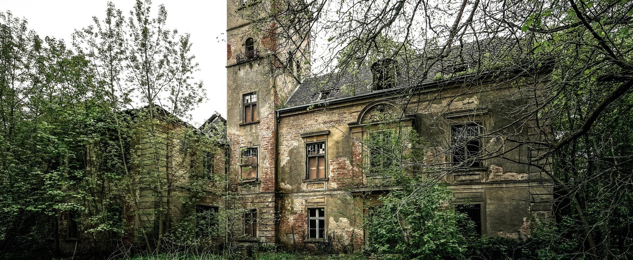 Das verfallene Schloss steht seit vielen Jahren leer