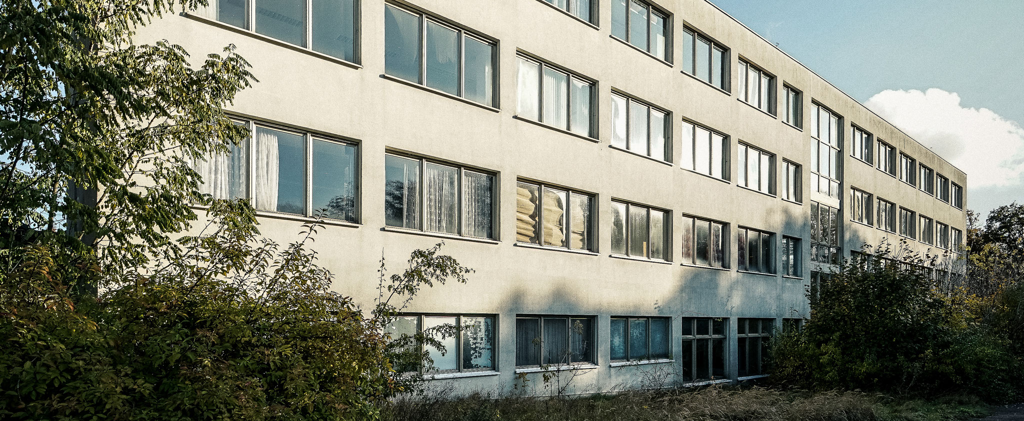 Die ungenutzten Gebäude des Schulungsheim