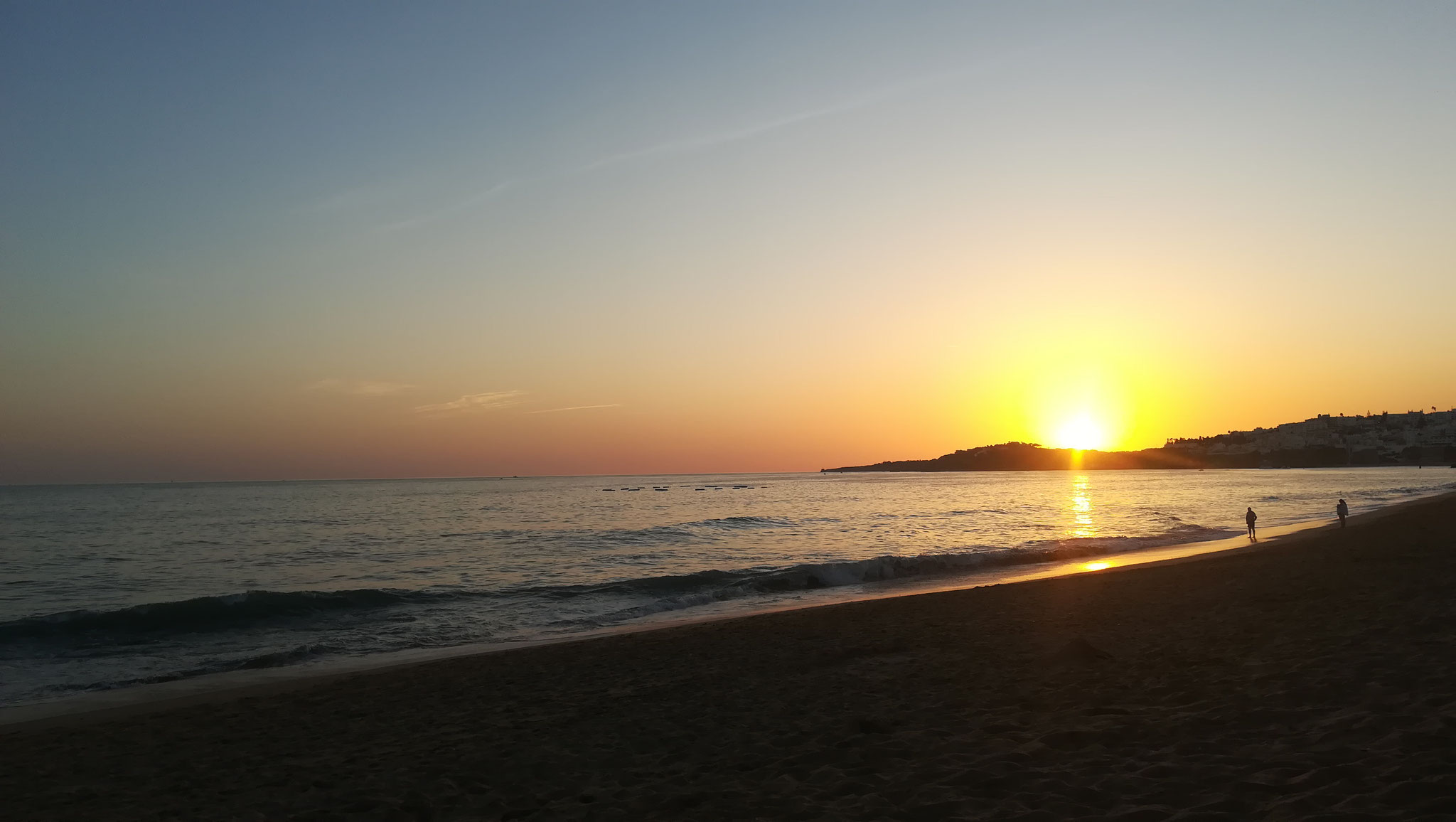 Sonnenuntergang Praia da Oura (Stadtteil Albufeira)