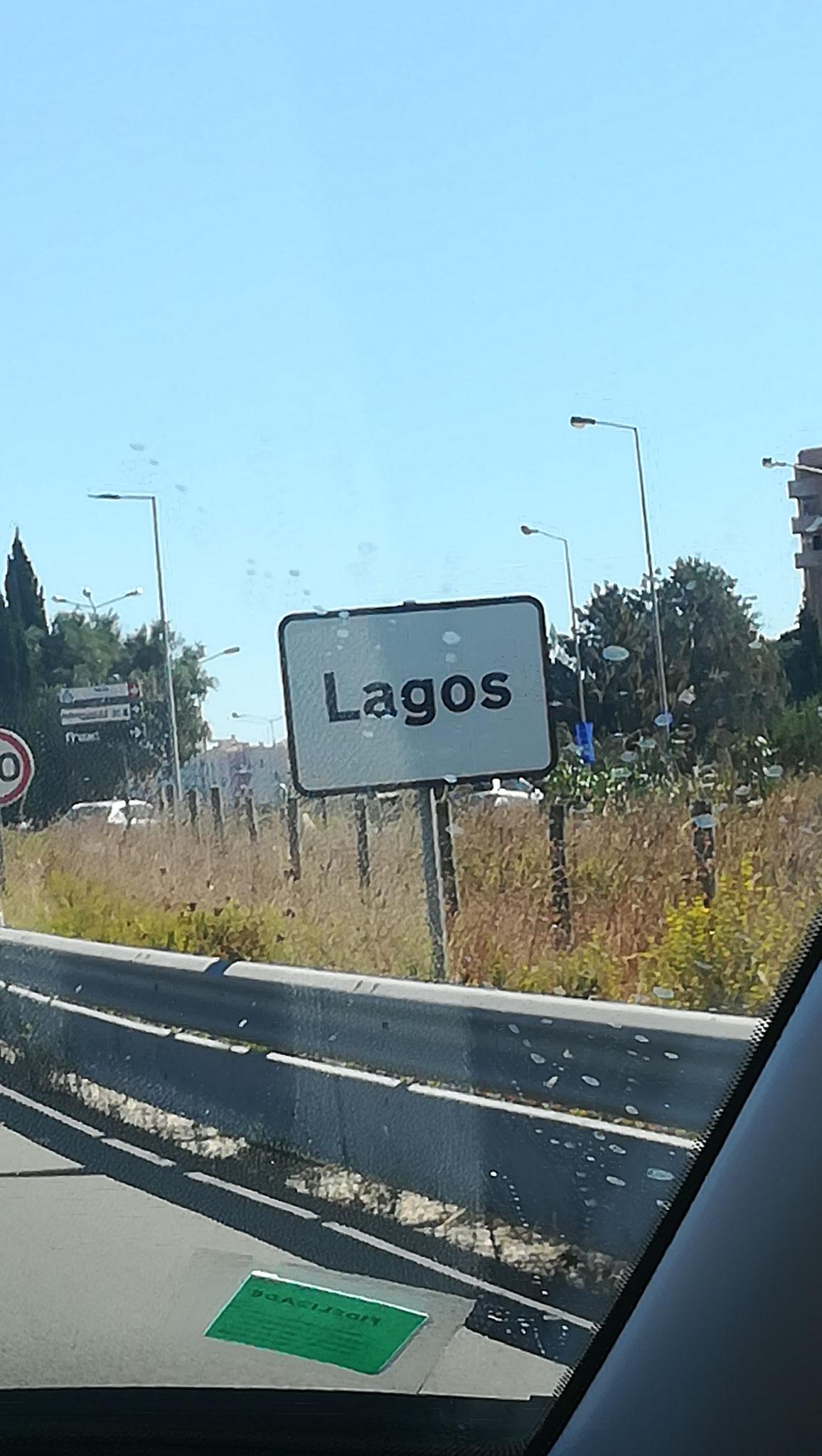 Lagos Ortsschild