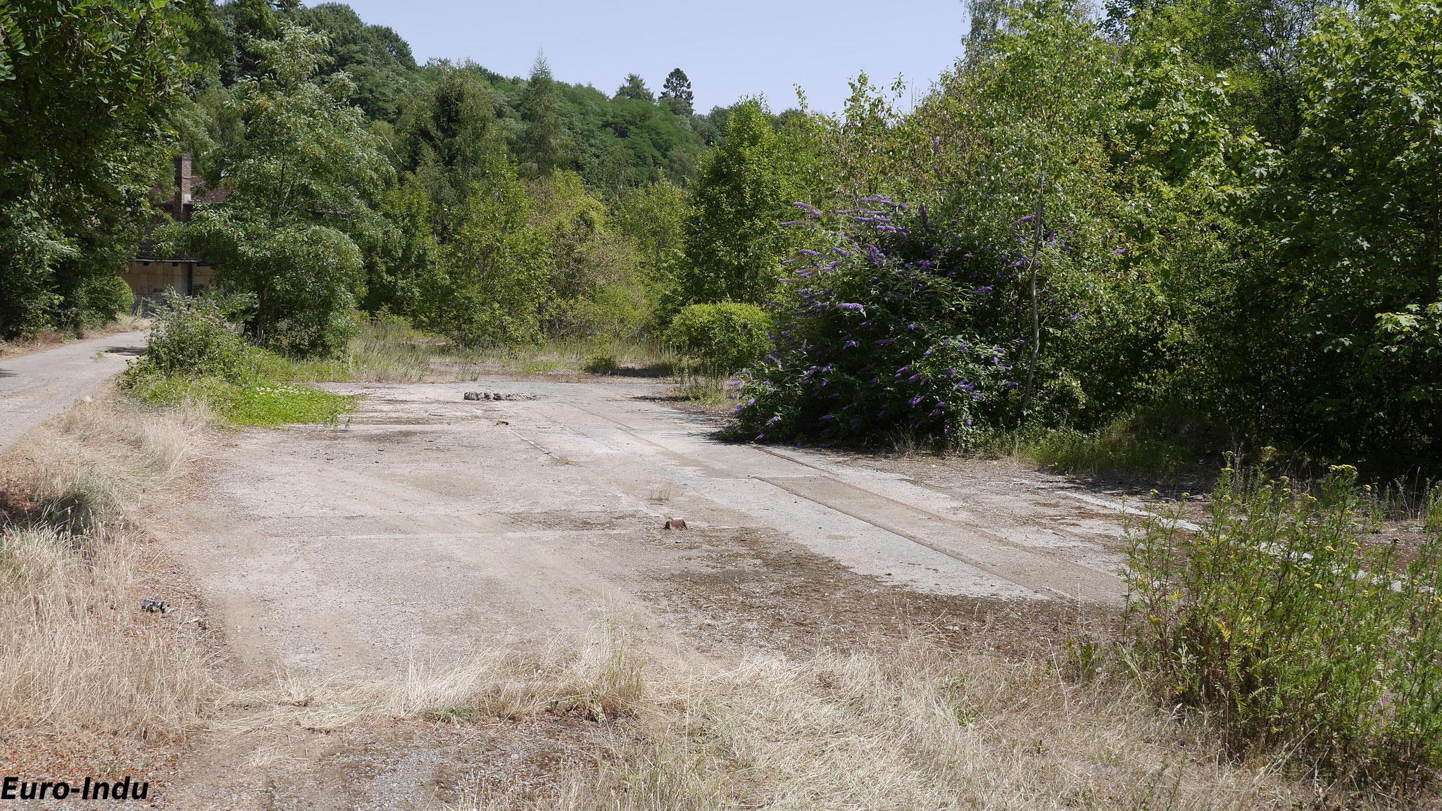 Reste von Gleisanlagen