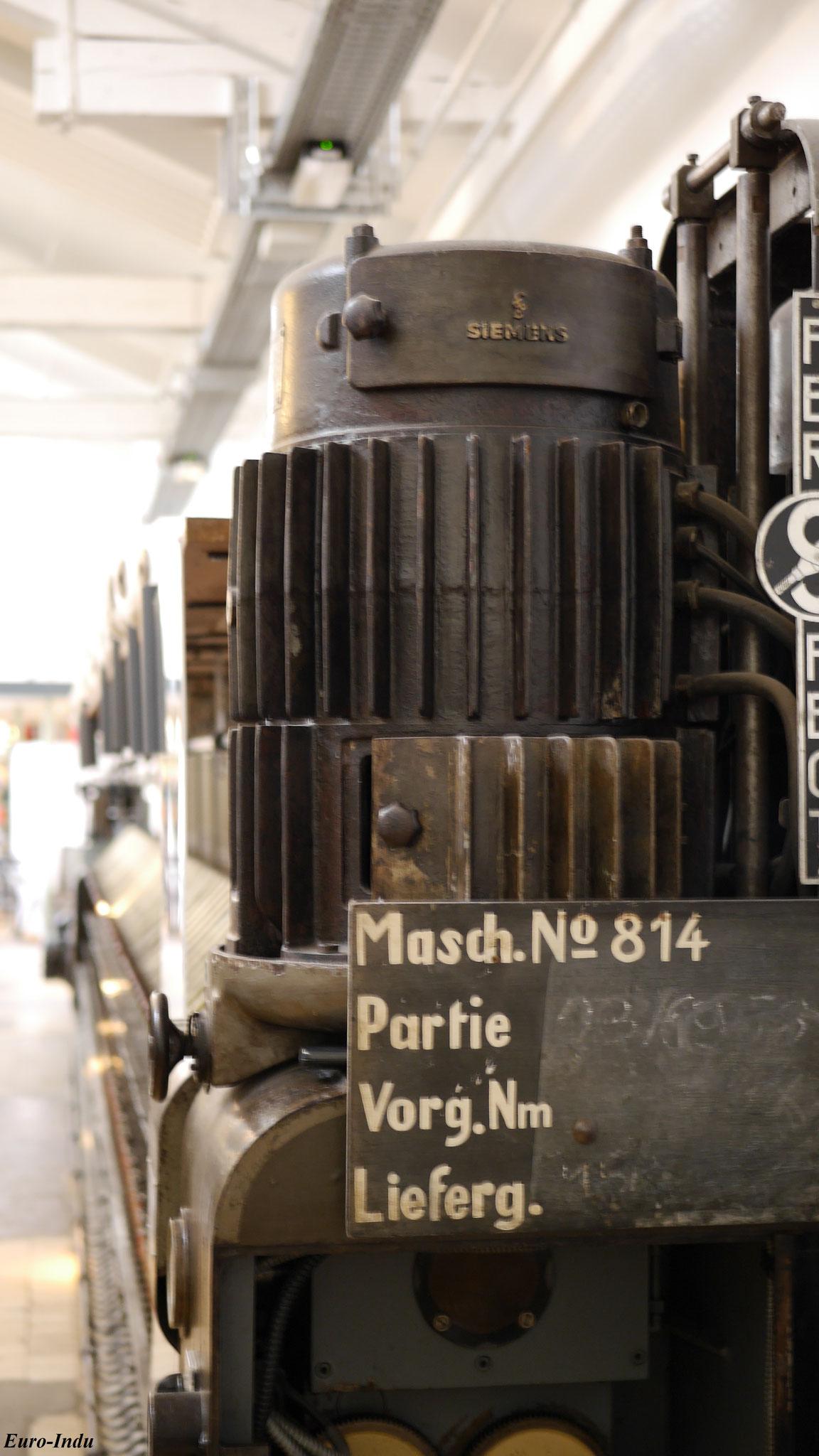 Siemens&Schuckert Antriebseinheit einer Ringspinnmaschine