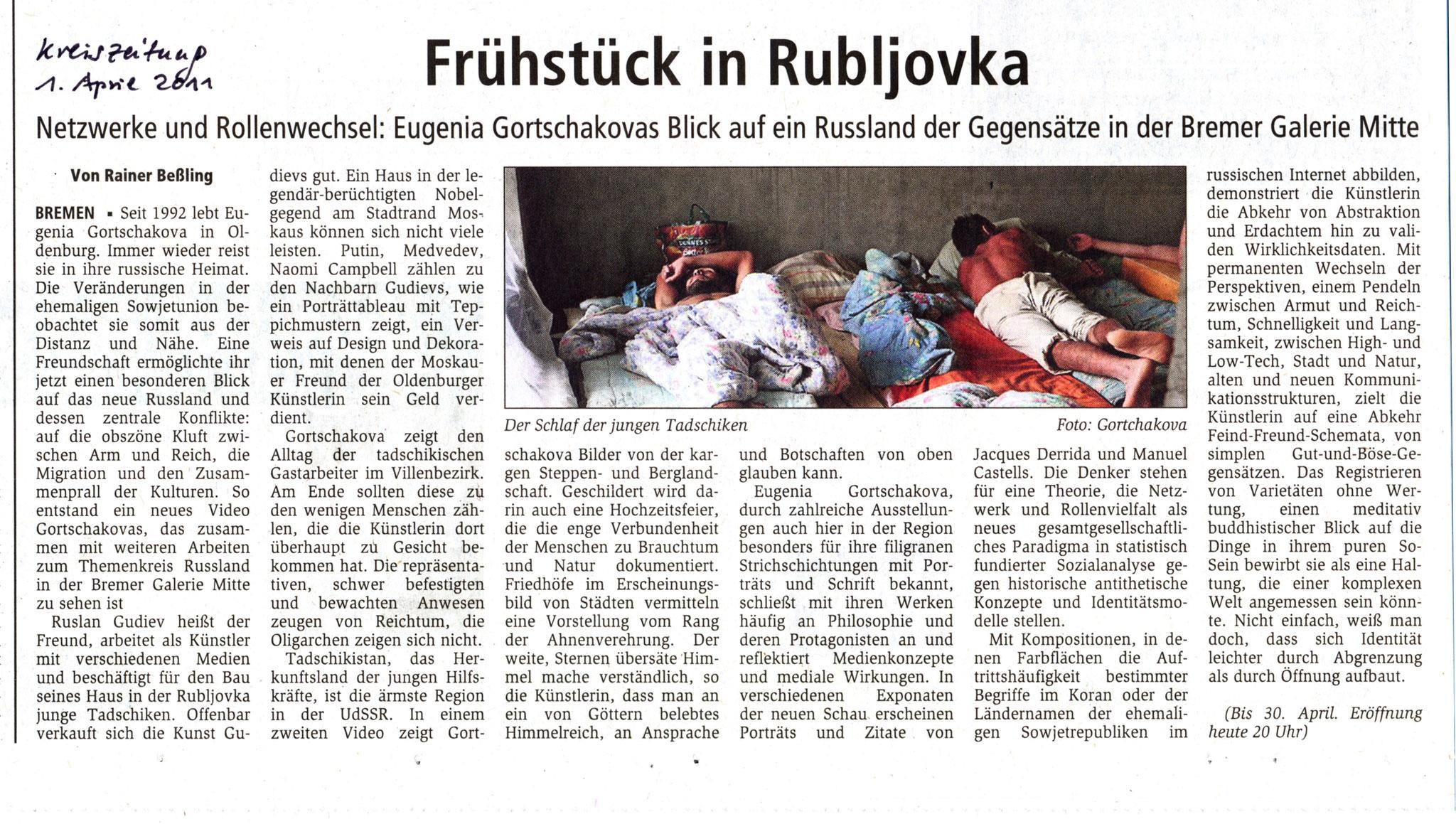 Kreiszeitung, Rainer Beßling, 01.04.2011