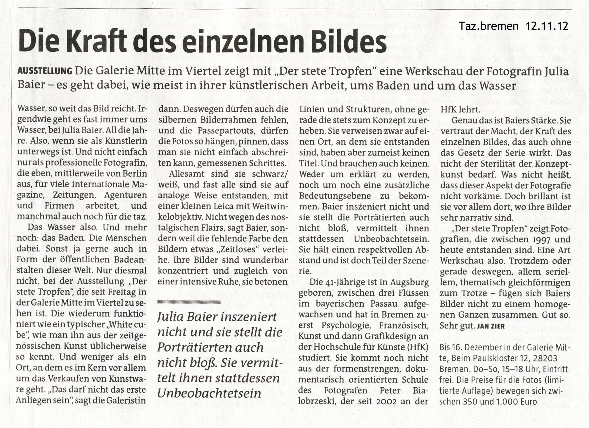 Taz, Jan Zier, 12.11.12