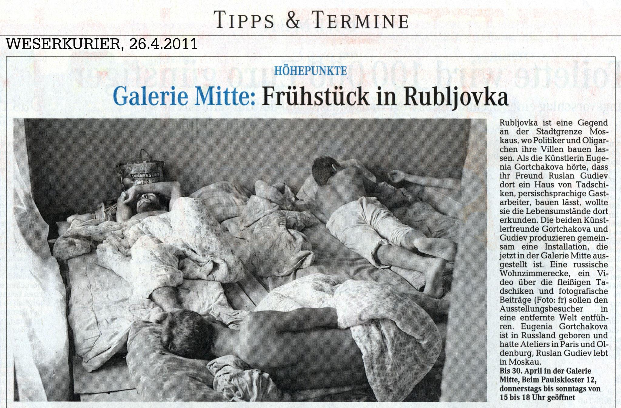 Weserkurier, 26.04.2011