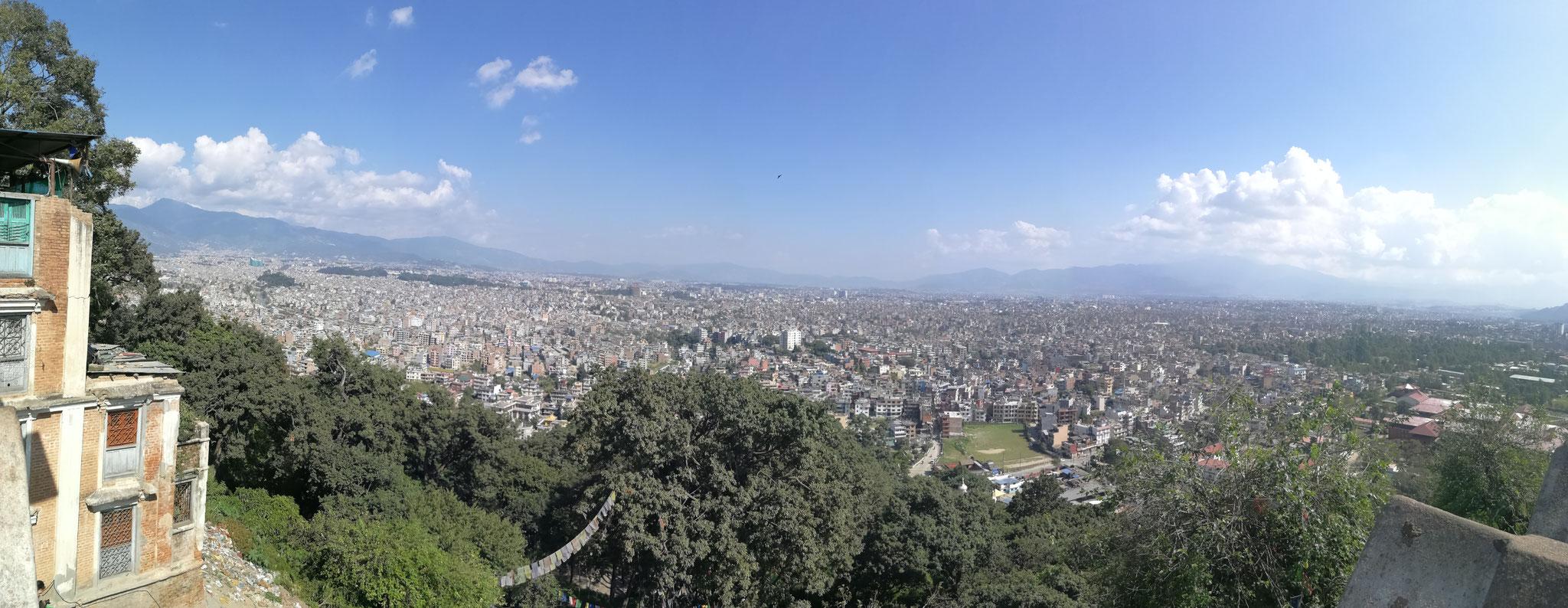 Katmandu depuis Swayambo'