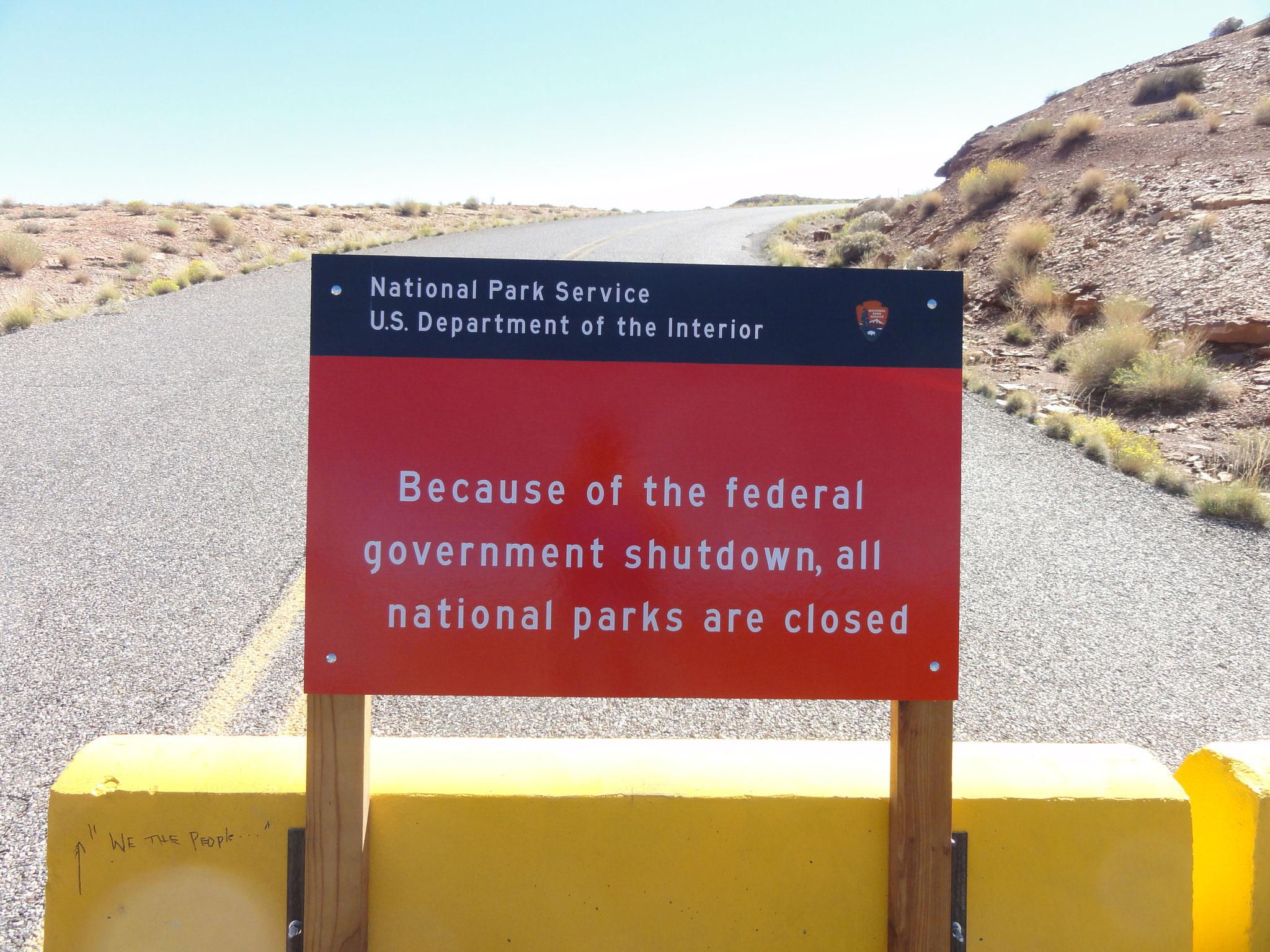 Da alle grösseren Parks geschlossen sind